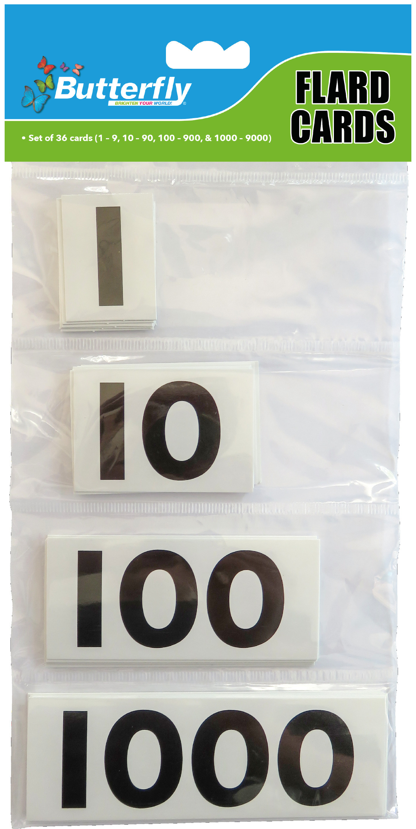 Flard Flash Cards - Numbers