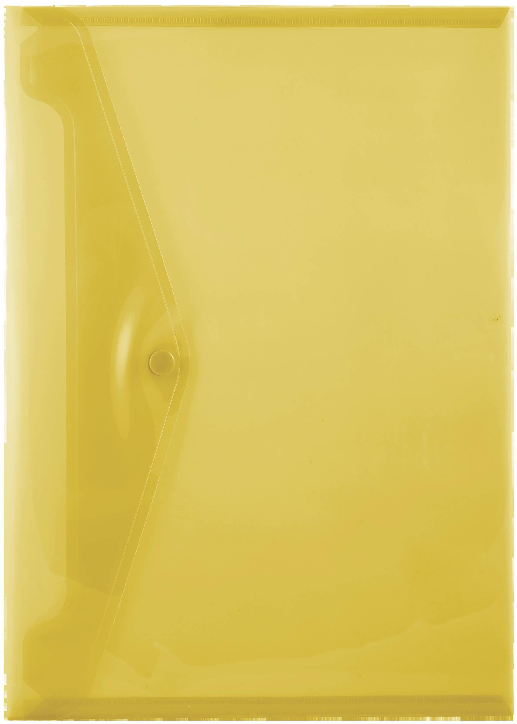 A4 Carry Folders - 160 Micron - Yellow