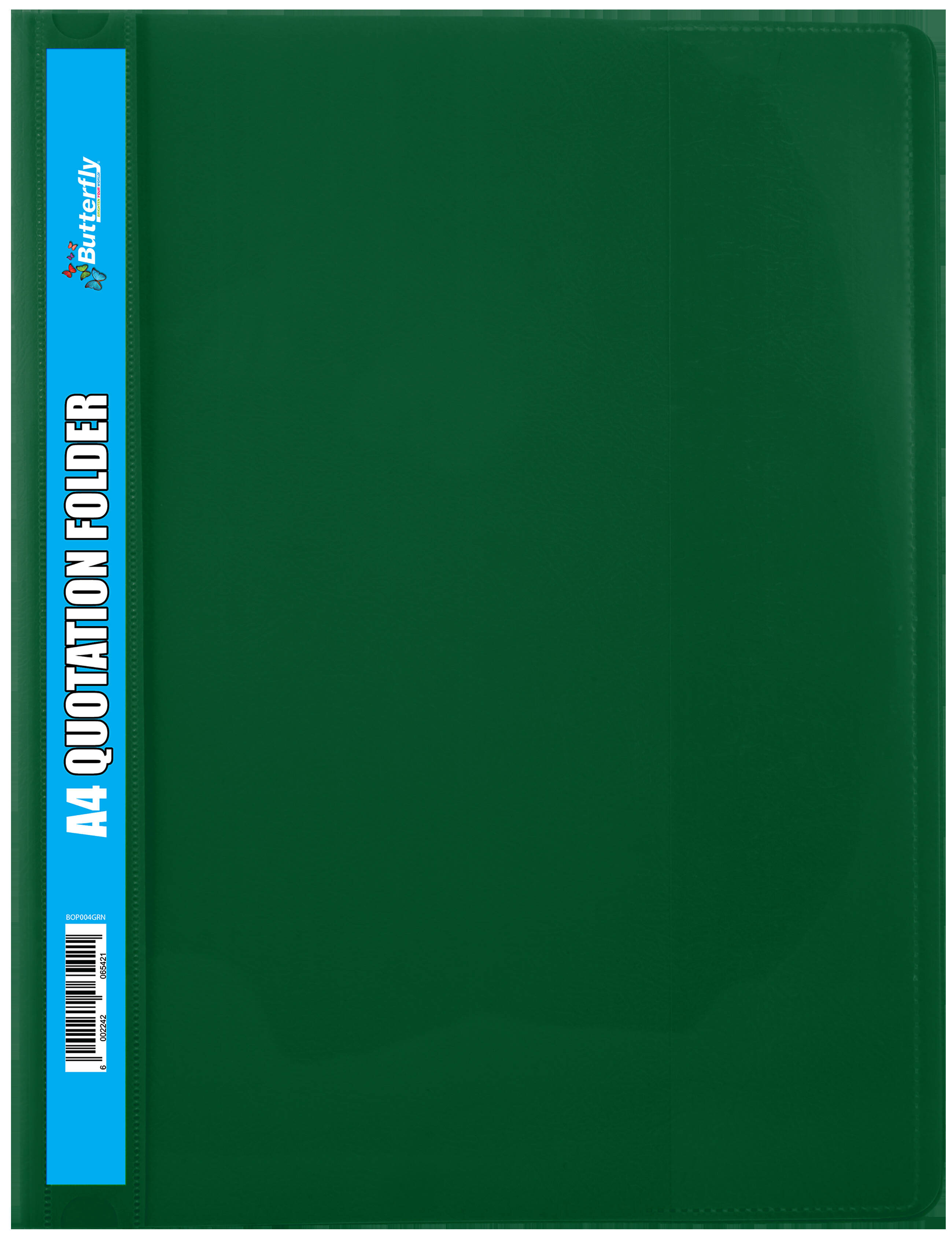 A4 Quotation Folders - 180 Micron - Green