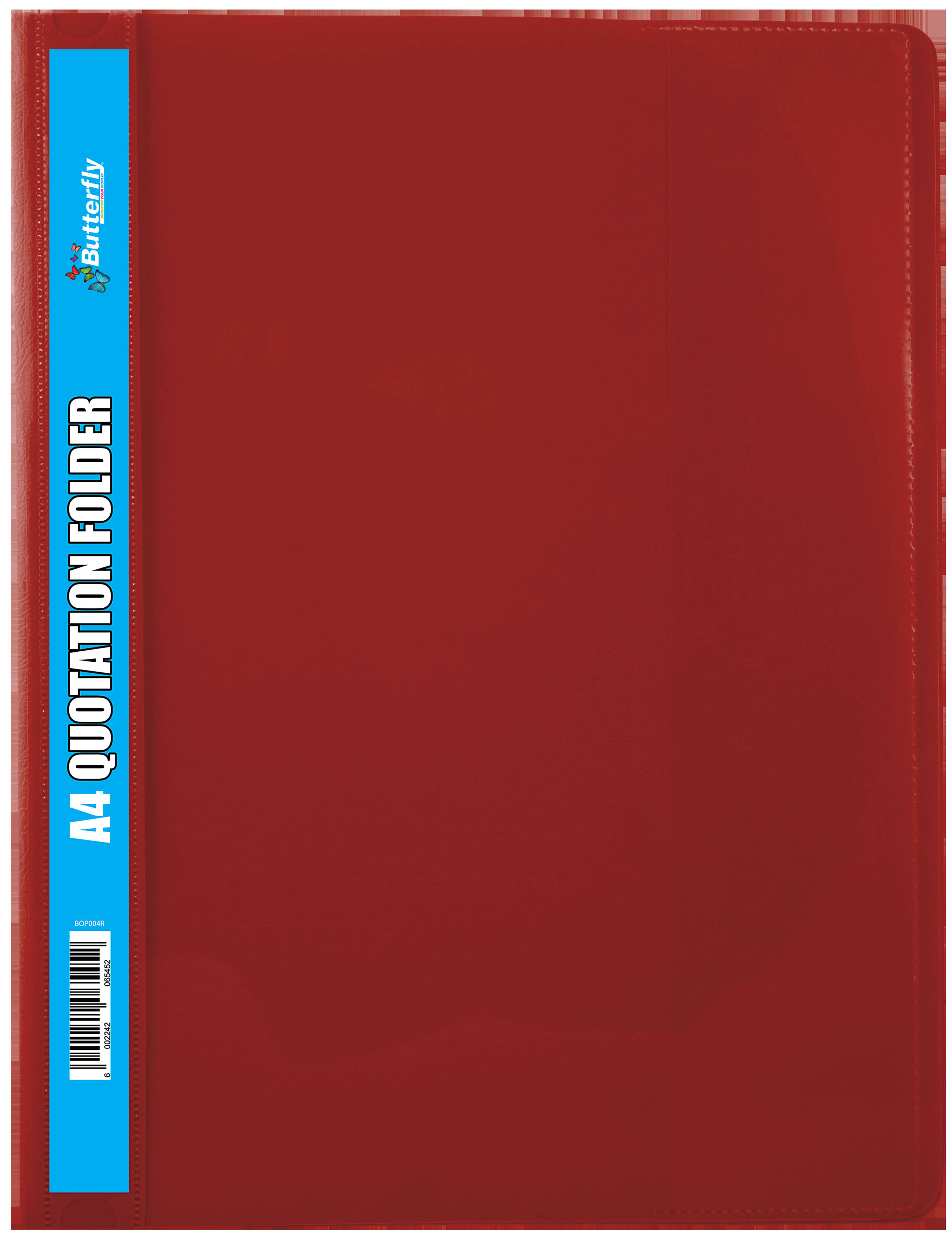 A4 Quotation Folders - 180 Micron - Red