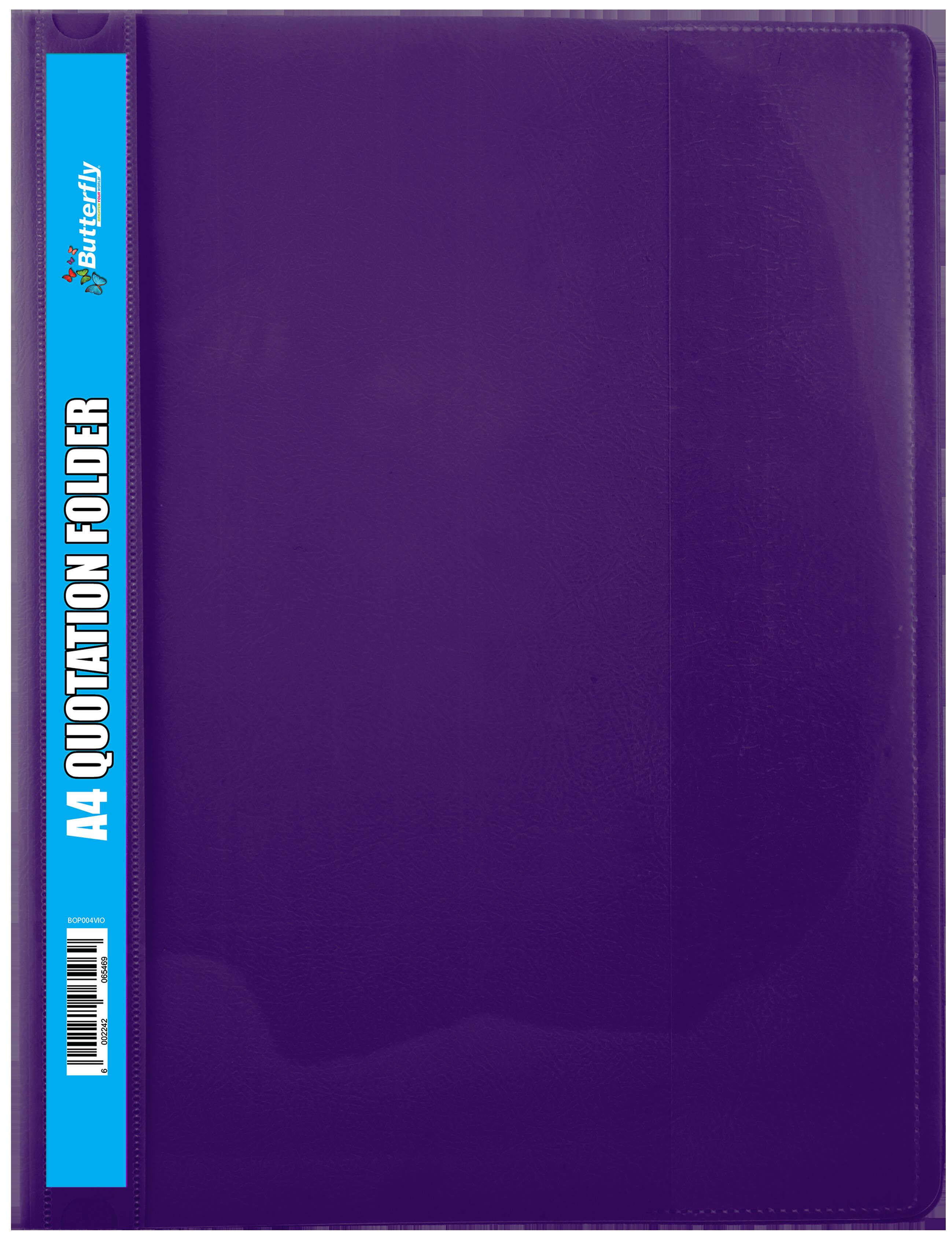A4 Quotation Folders - 180 Micron - Violet