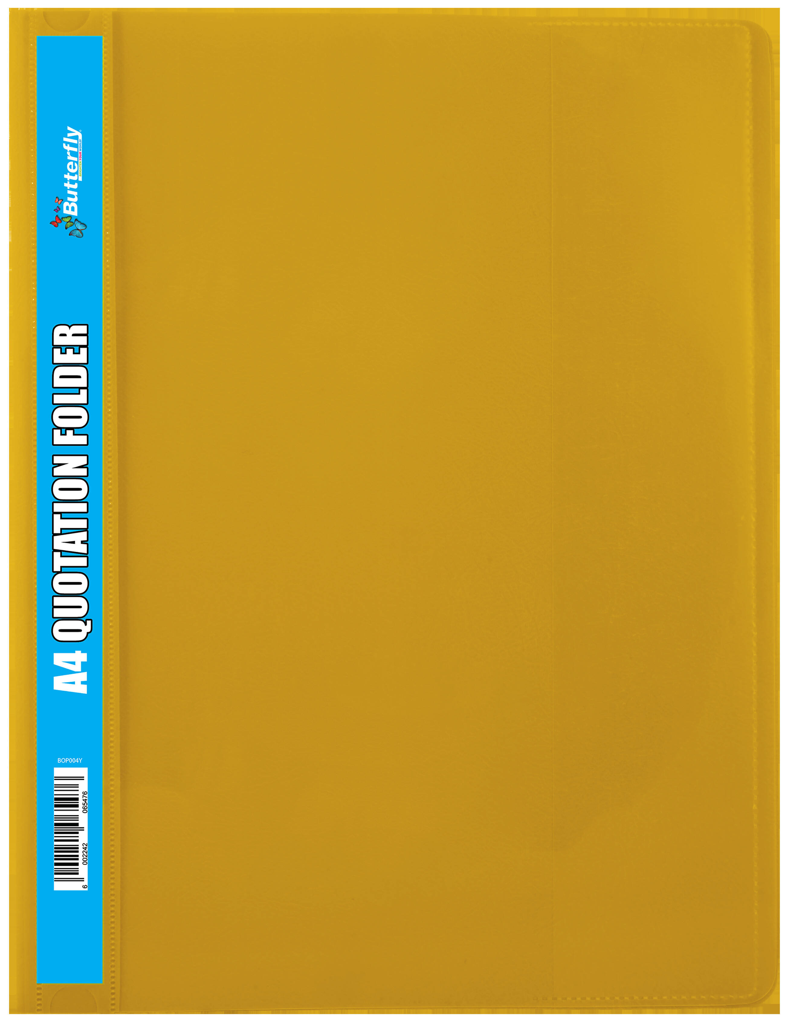 A4 Quotation Folders - 180 Micron - Yellow