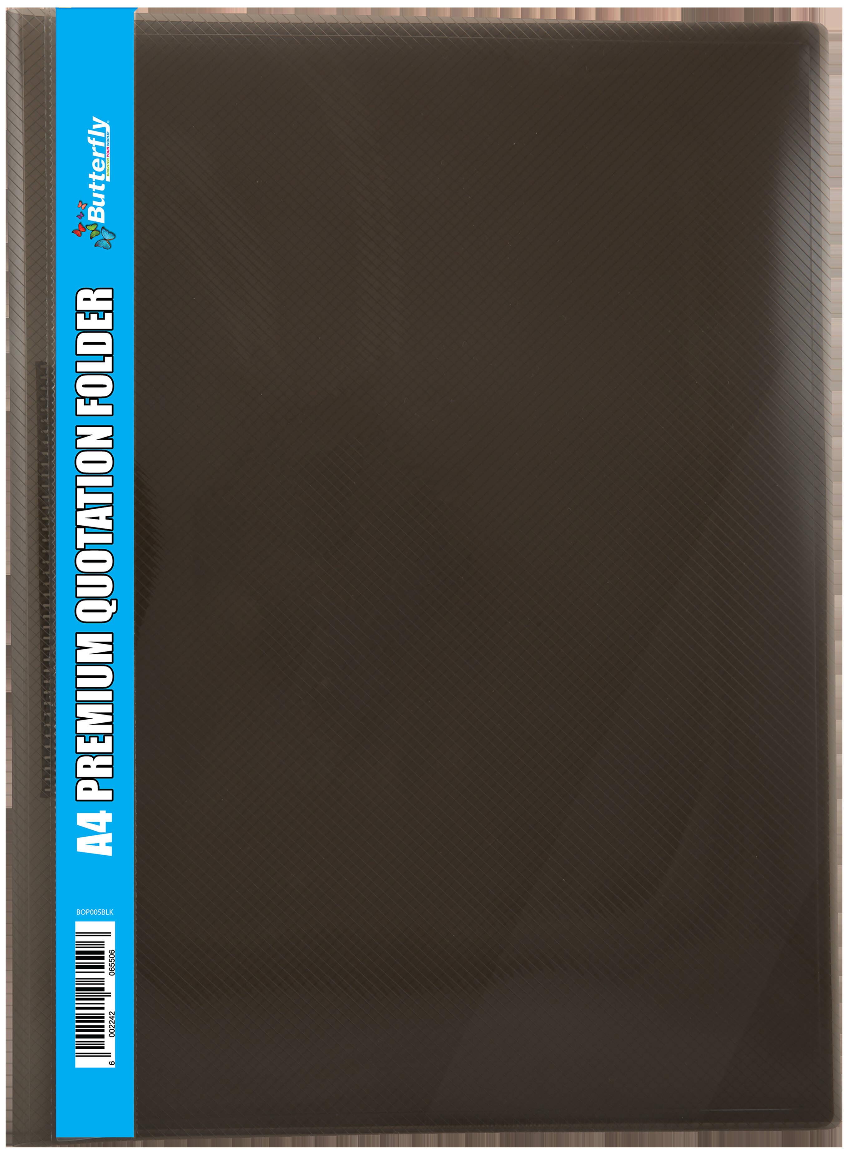A4 Quotation Folders - 400 Micron - Black