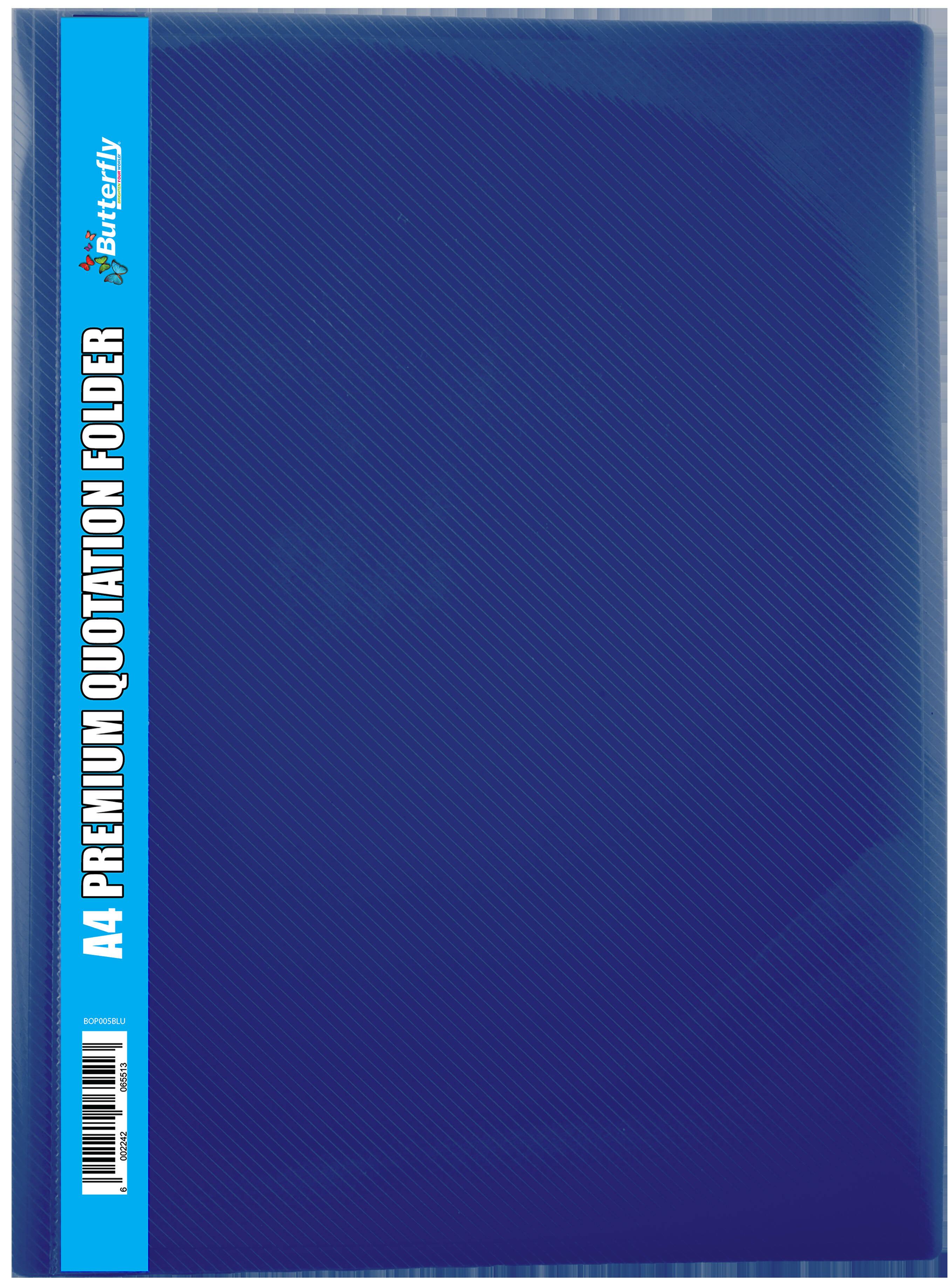 A4 Premium Quotation Folders - 400 Micron - Blue