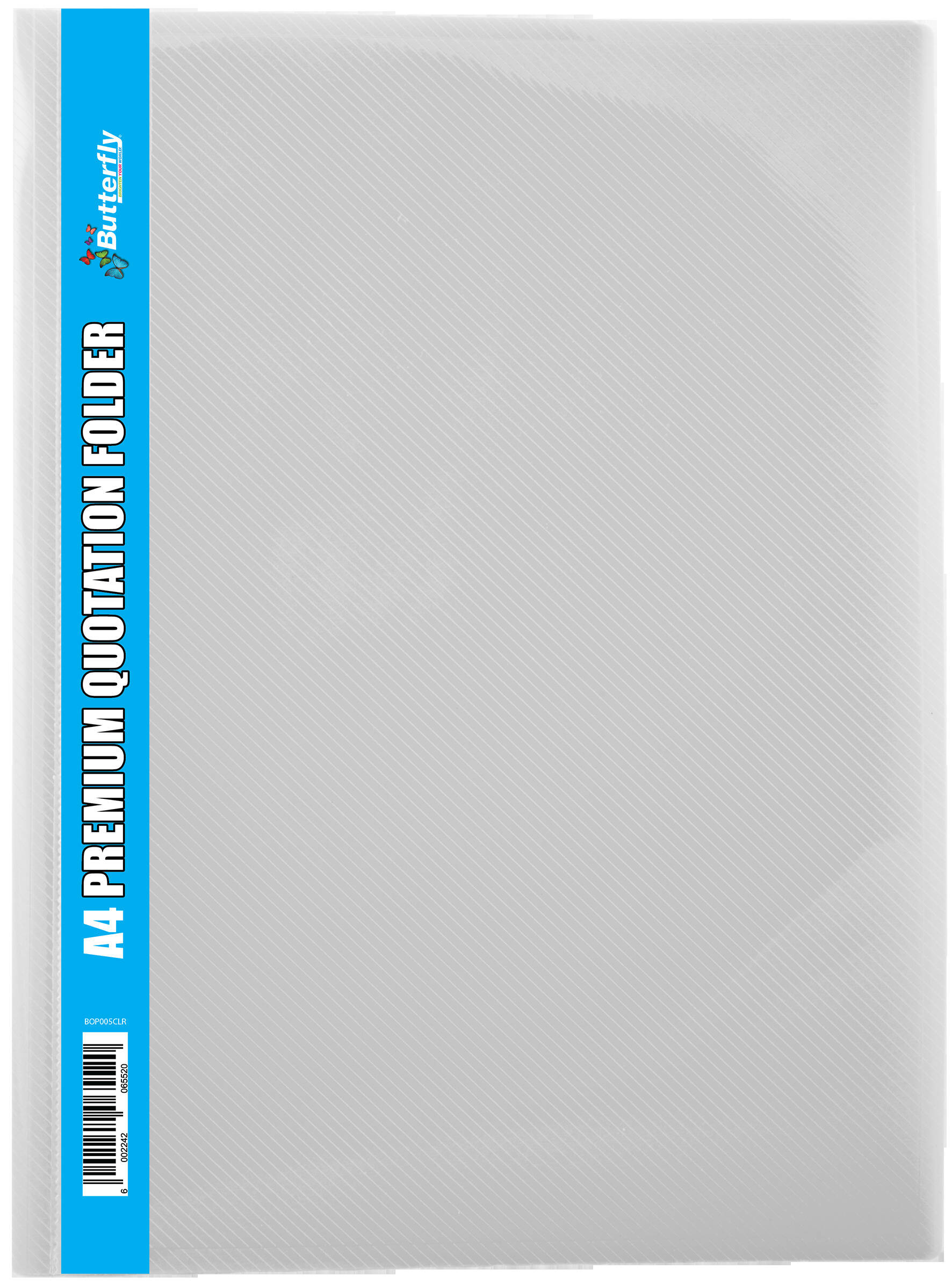 A4 Premium Quotation Folders - 400 Micron - Clear