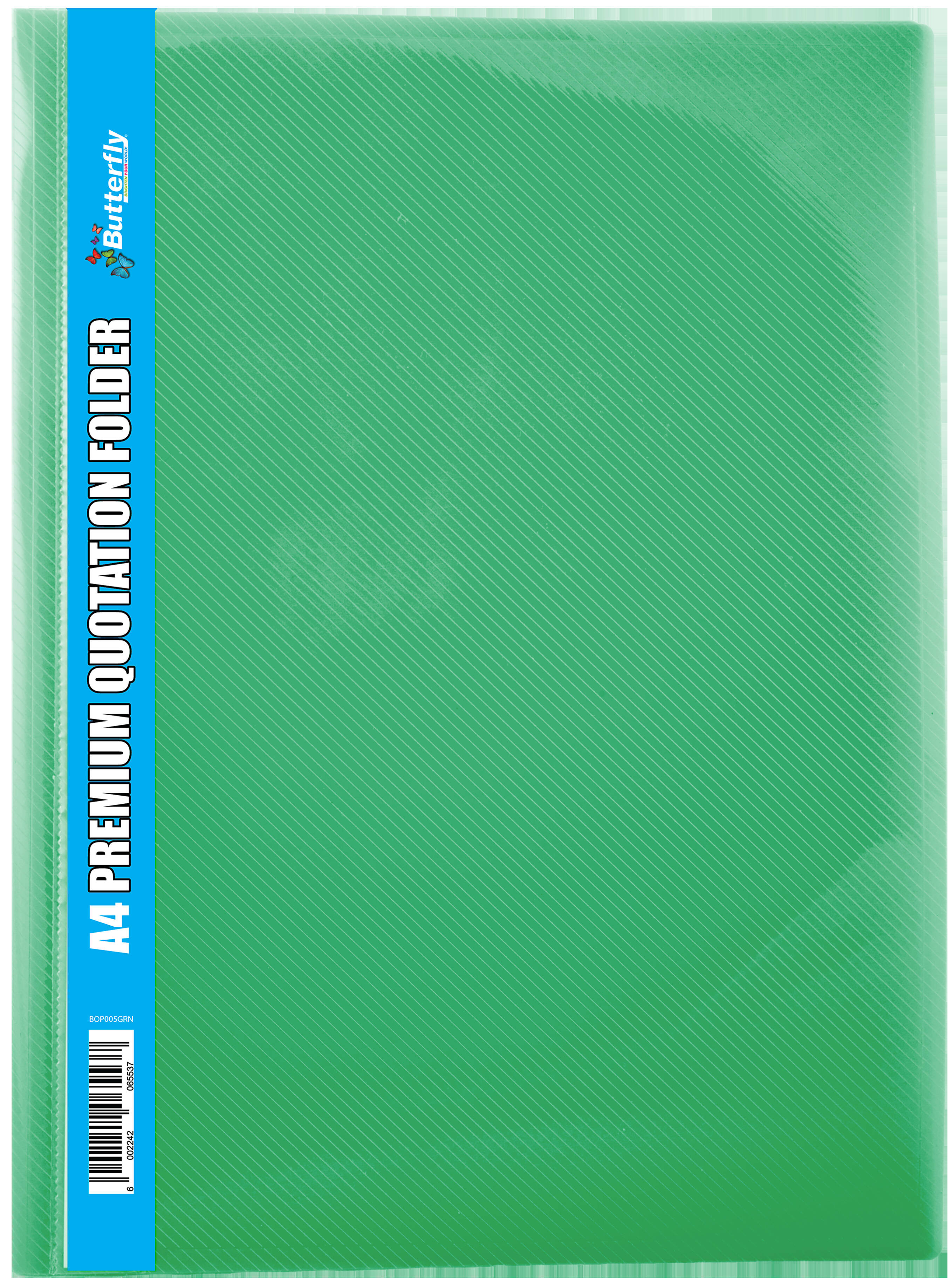 A4 Premium Quotation Folders - 400 Micron - Green