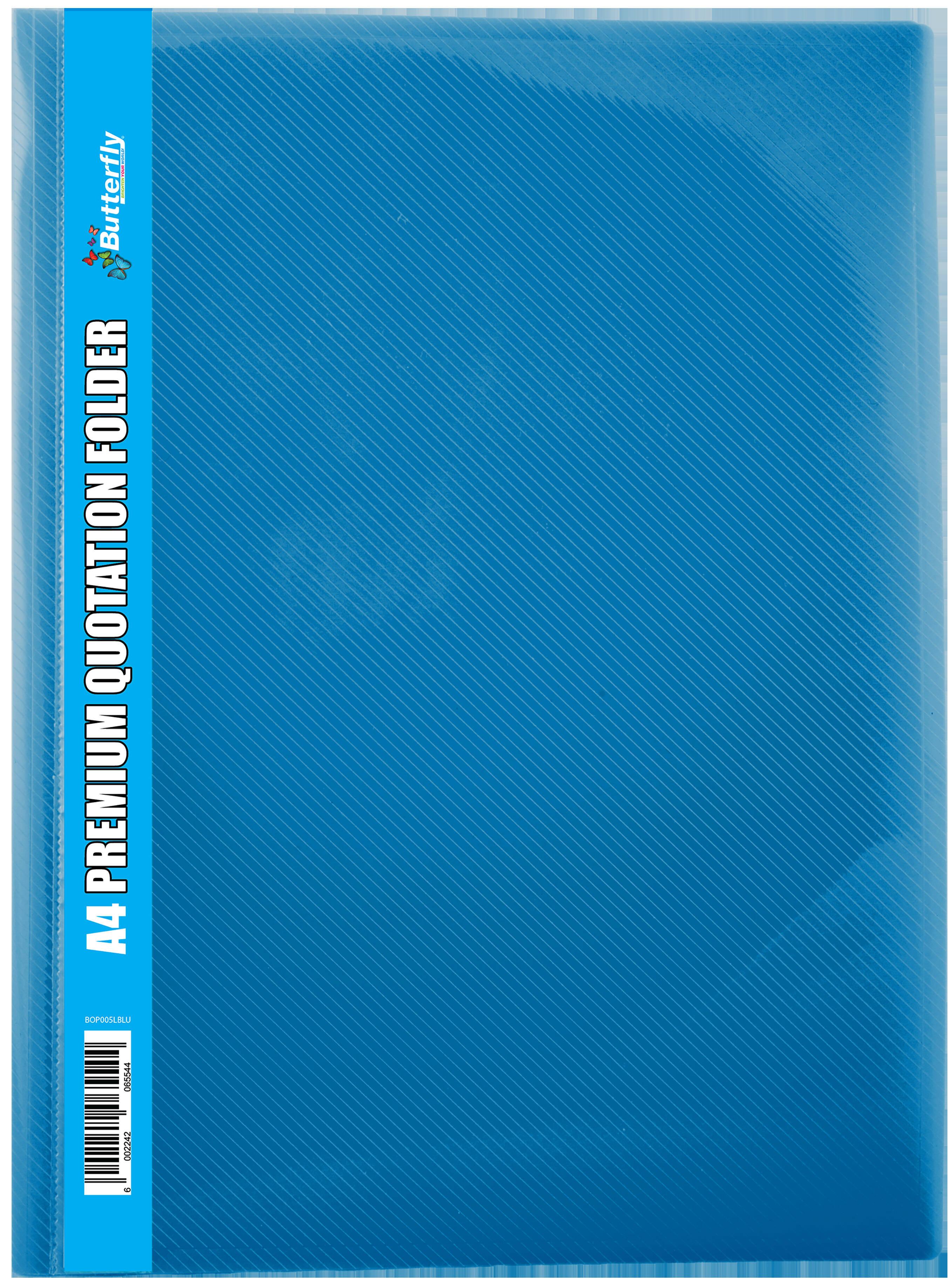 A4 Premium Quotation Folders - 400 Micron - Light Blue