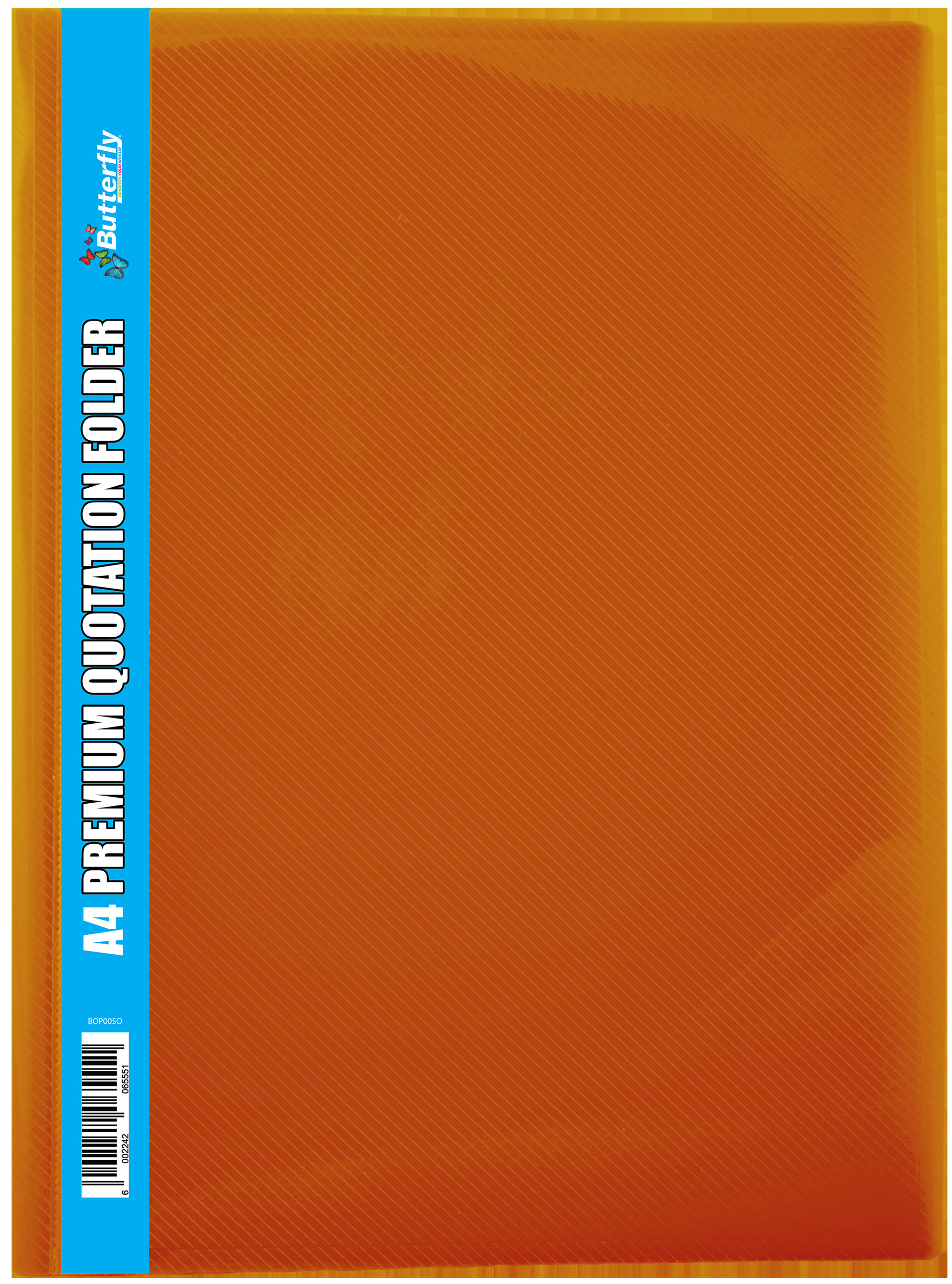 A4 Premium Quotation Folders - 400 Micron - Orange