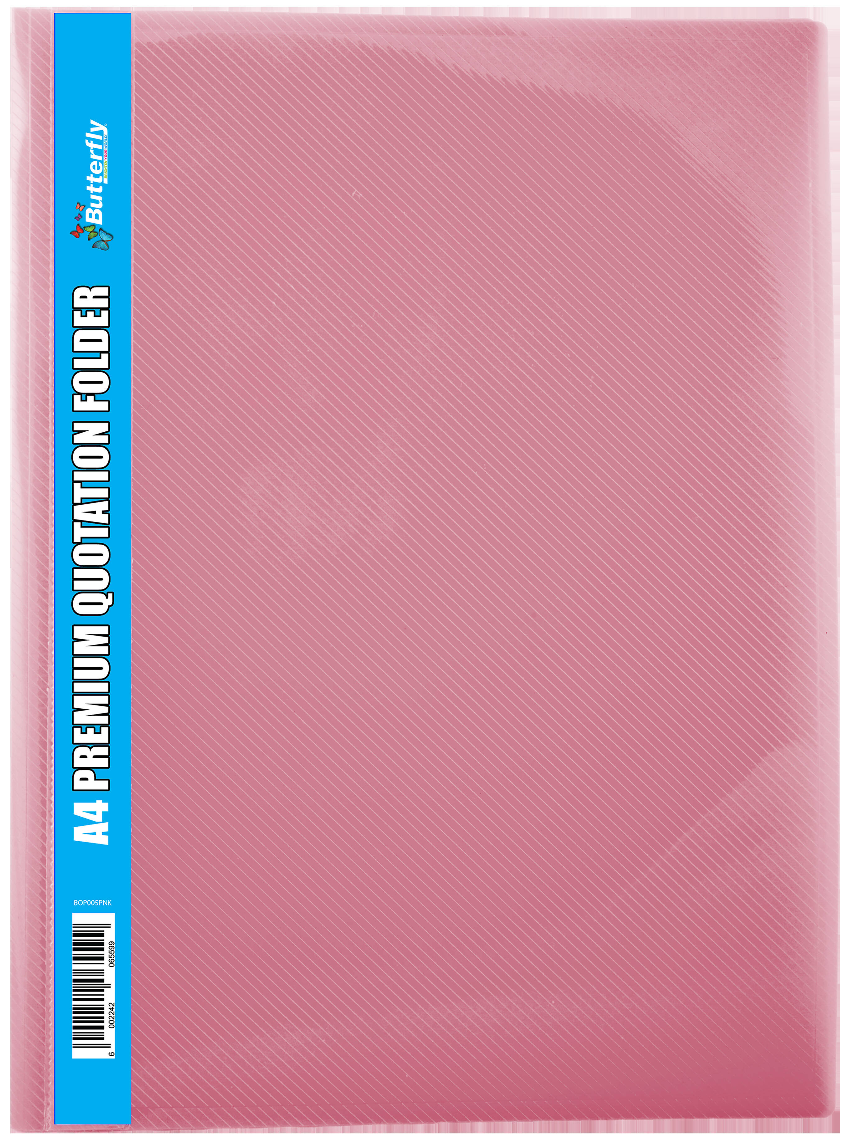 A4 Premium Quotation Folders - 400 Micron - Pink