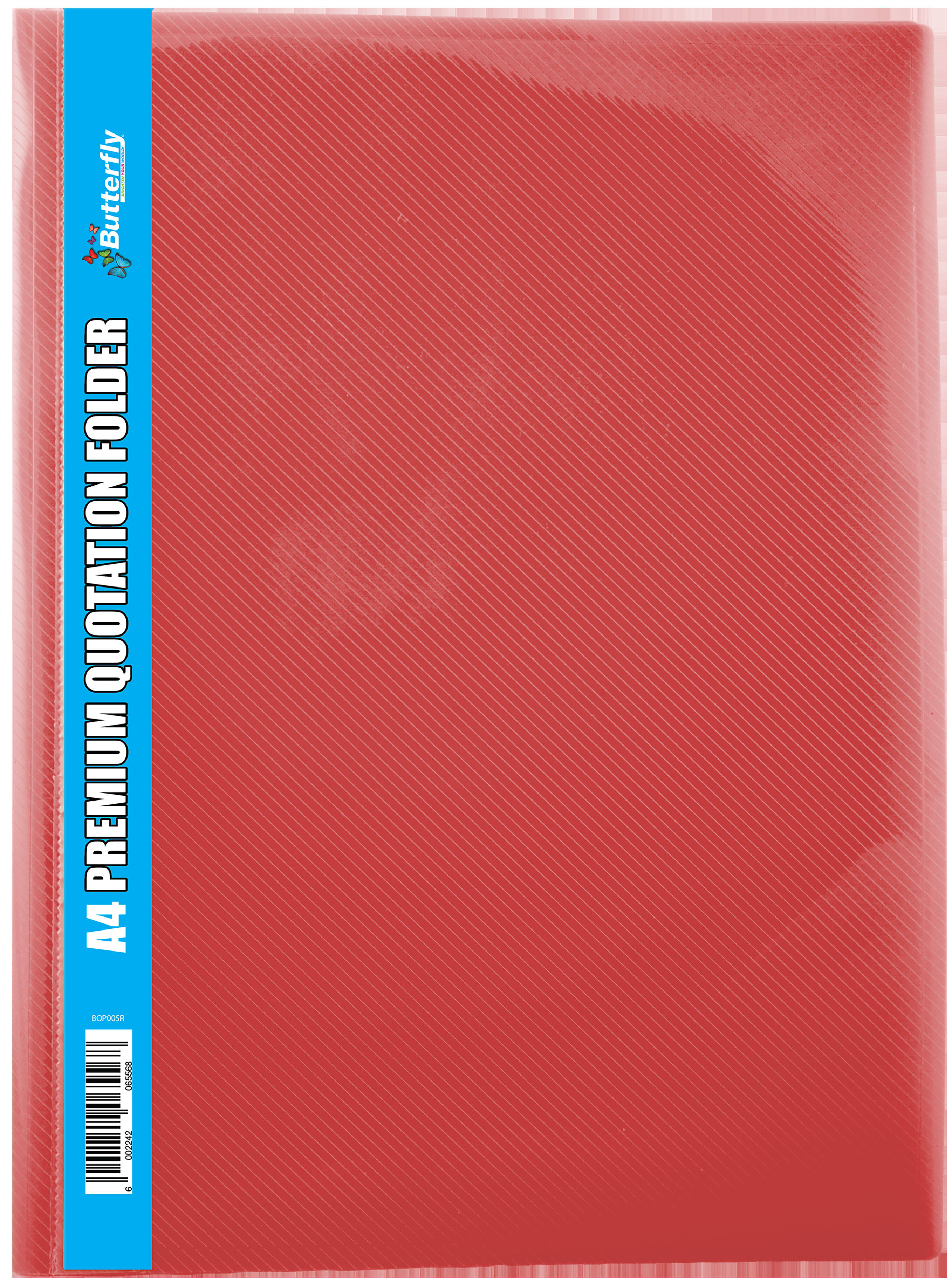 A4 Premium Quotation Folders - 400 Micron - Red