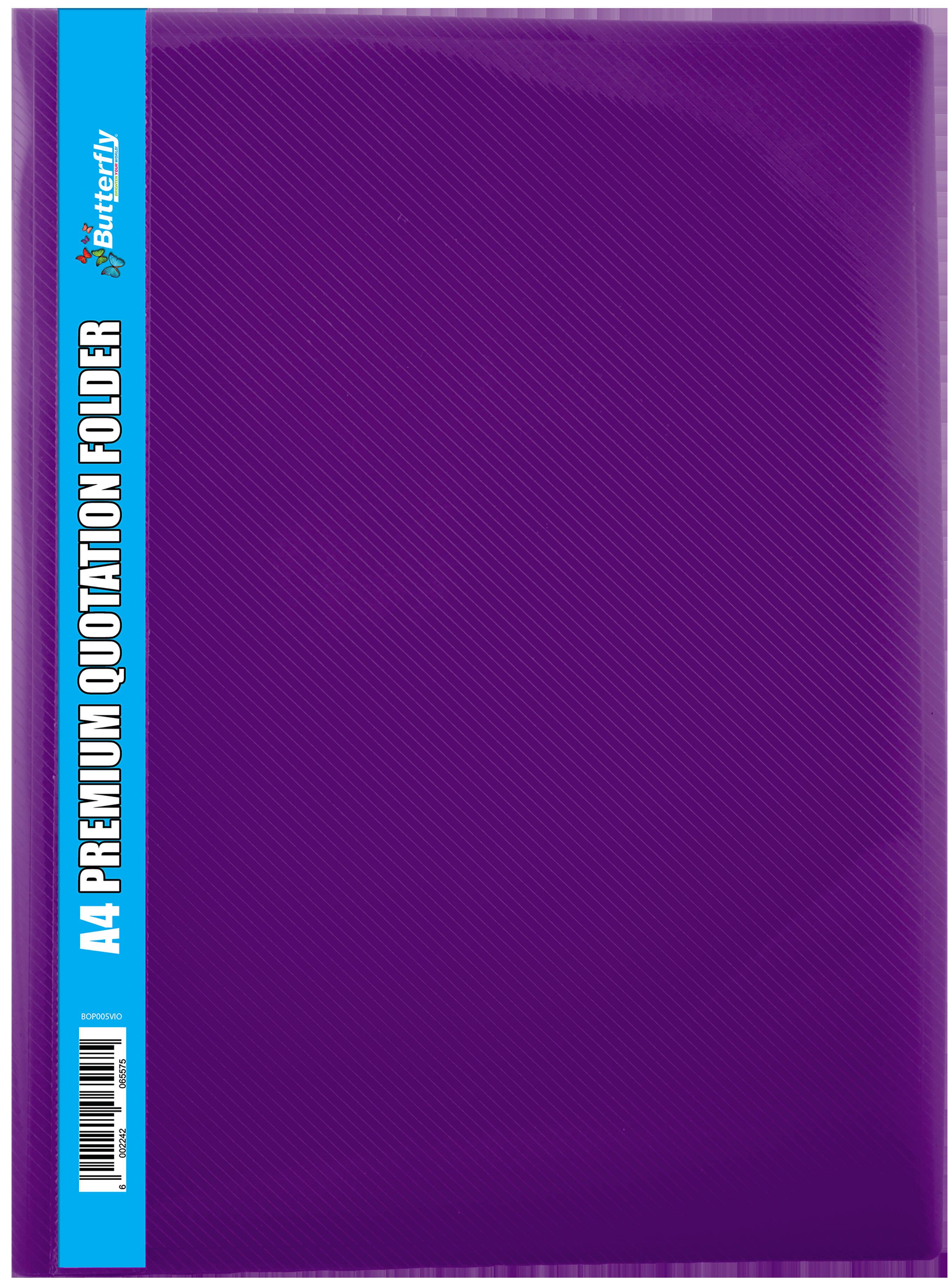 A4 Premium Quotation Folders - 400 Micron - Violet
