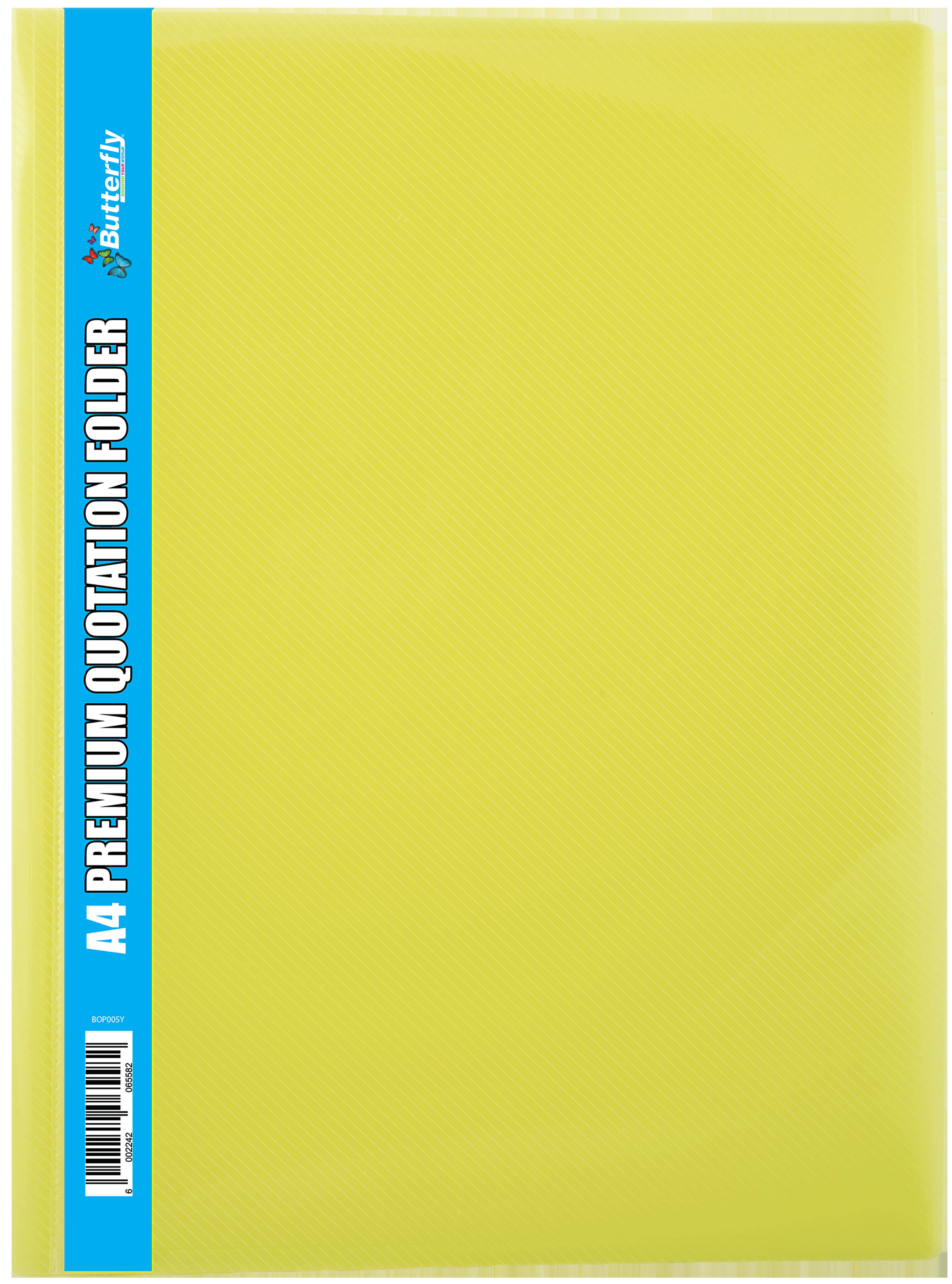A4 Premium Quotation Folders - 400 Micron - Yellow