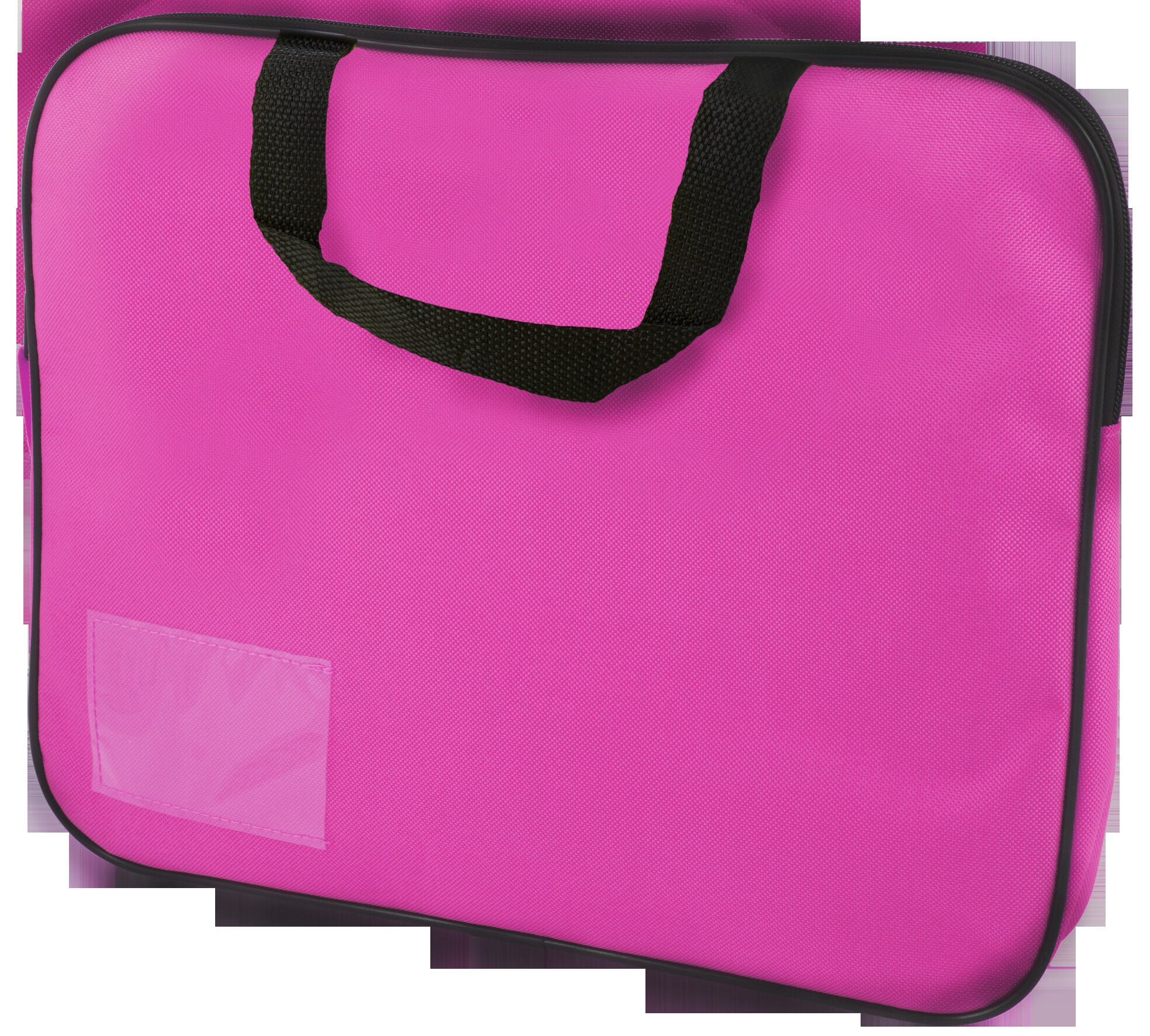 Homework Bag (Book Bag) With Handle - Pink