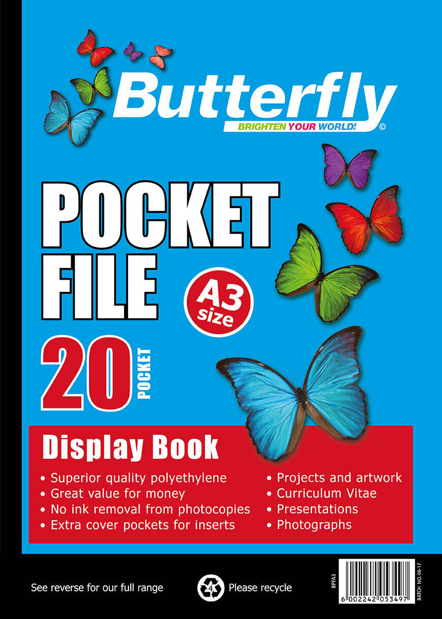 Butterfly Pocket File - A3 20 Page