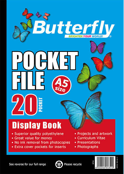 Butterfly Pocket File - A5 20 Page
