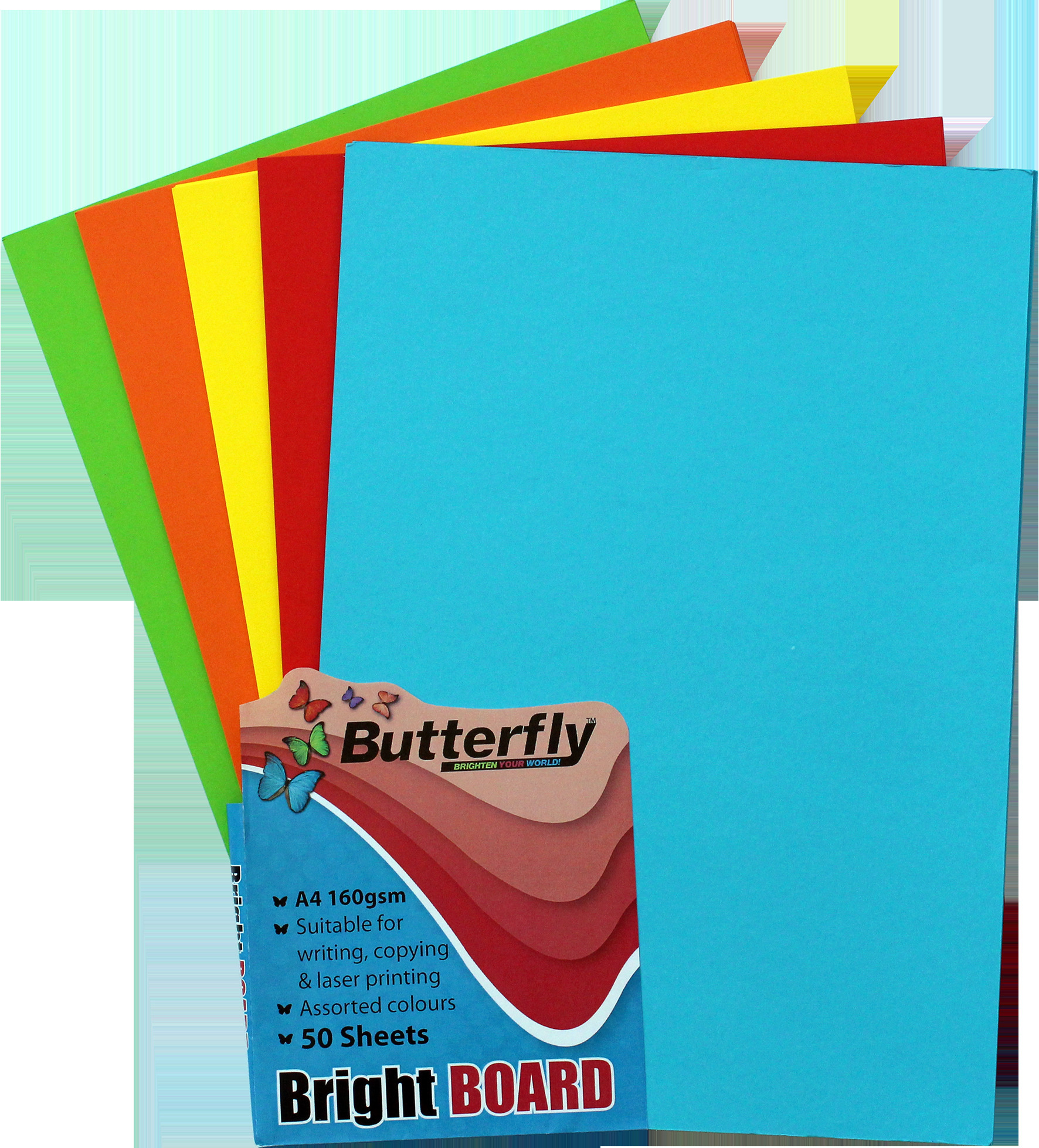 Assorted A4 Bright Board - Pack of 50