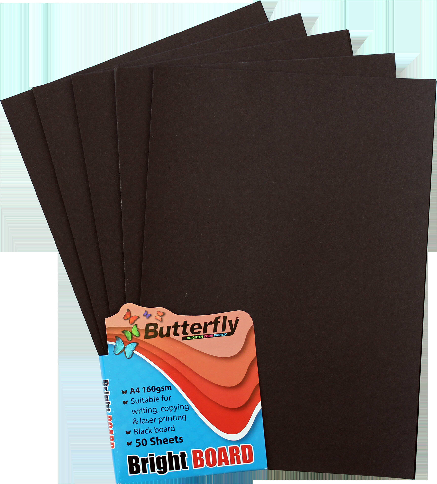 A4 Bright Board - Pack of 50 Black