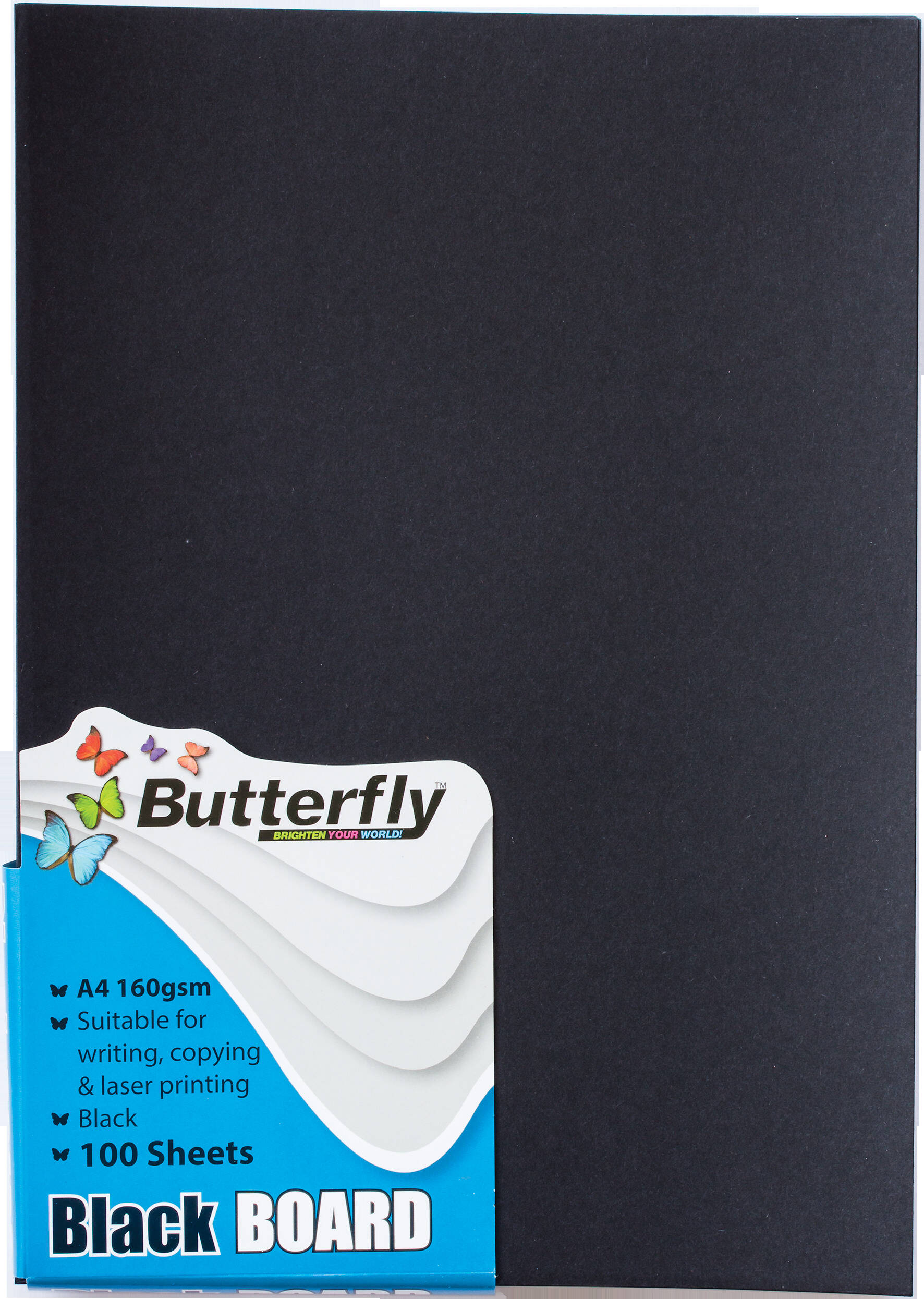 A4 Bright Board - Pack of 100 Black