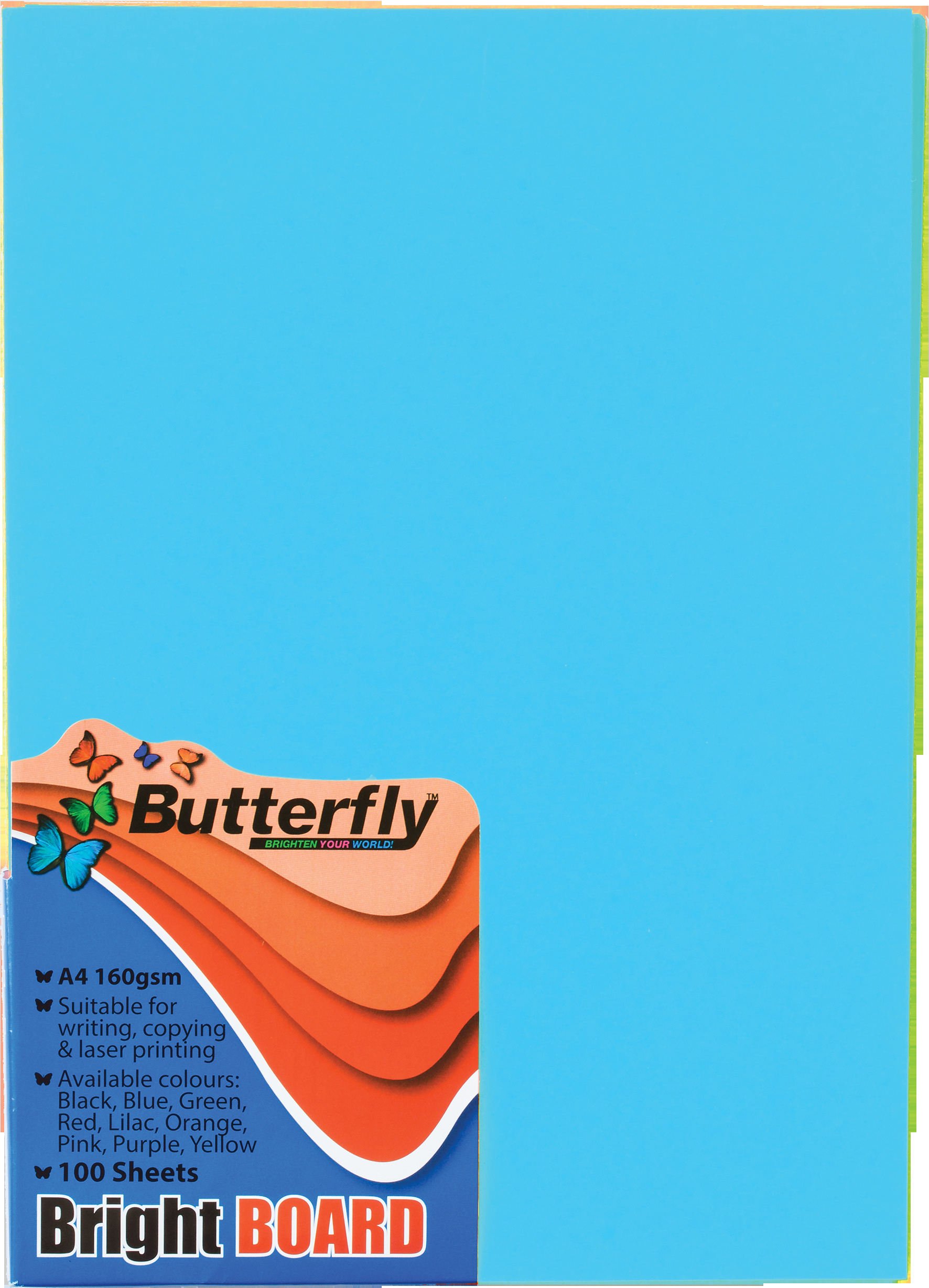 A4 Bright Board - Pack of 100 Blue