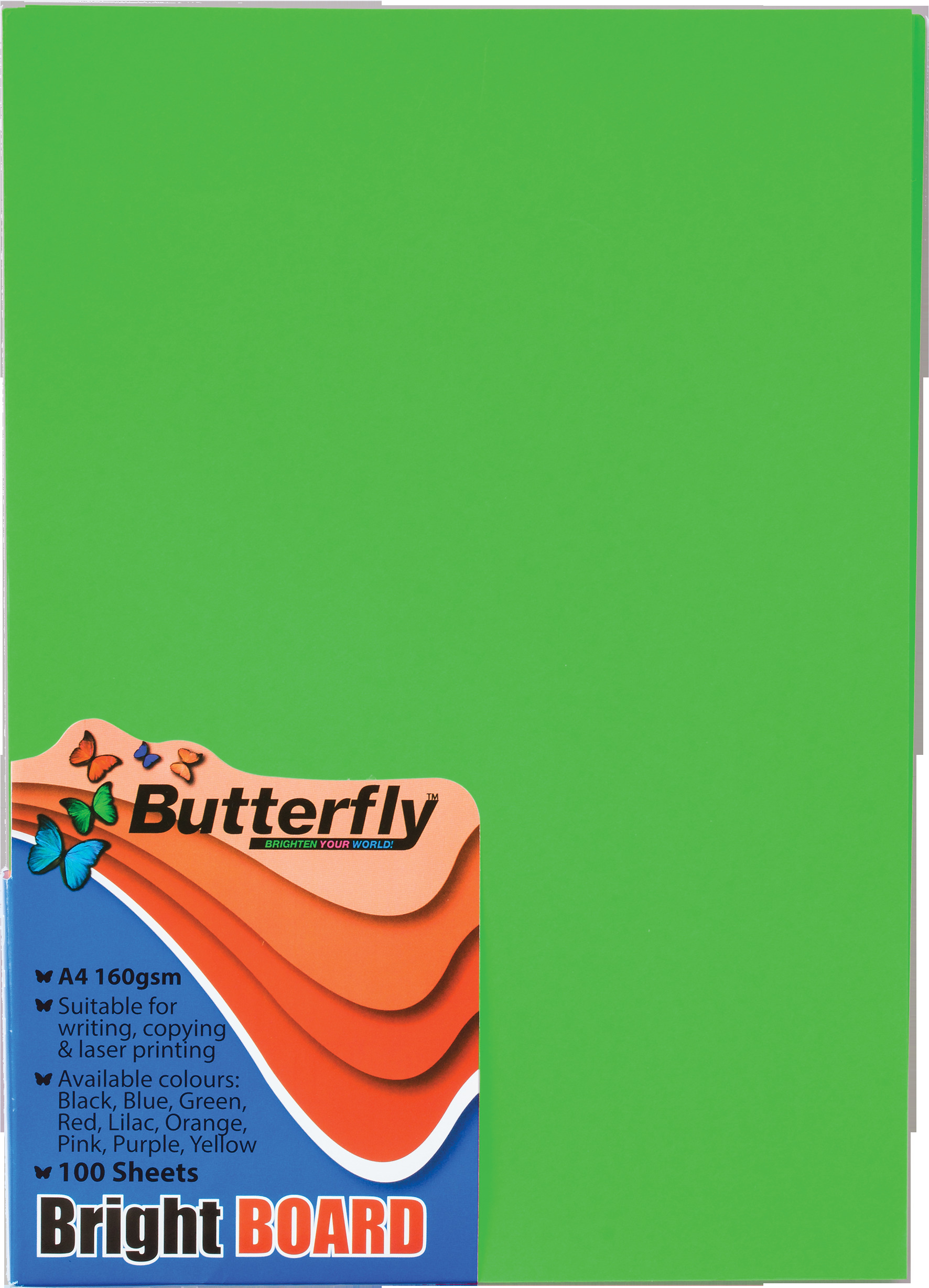 A4 Bright Board - Pack of 100 Green