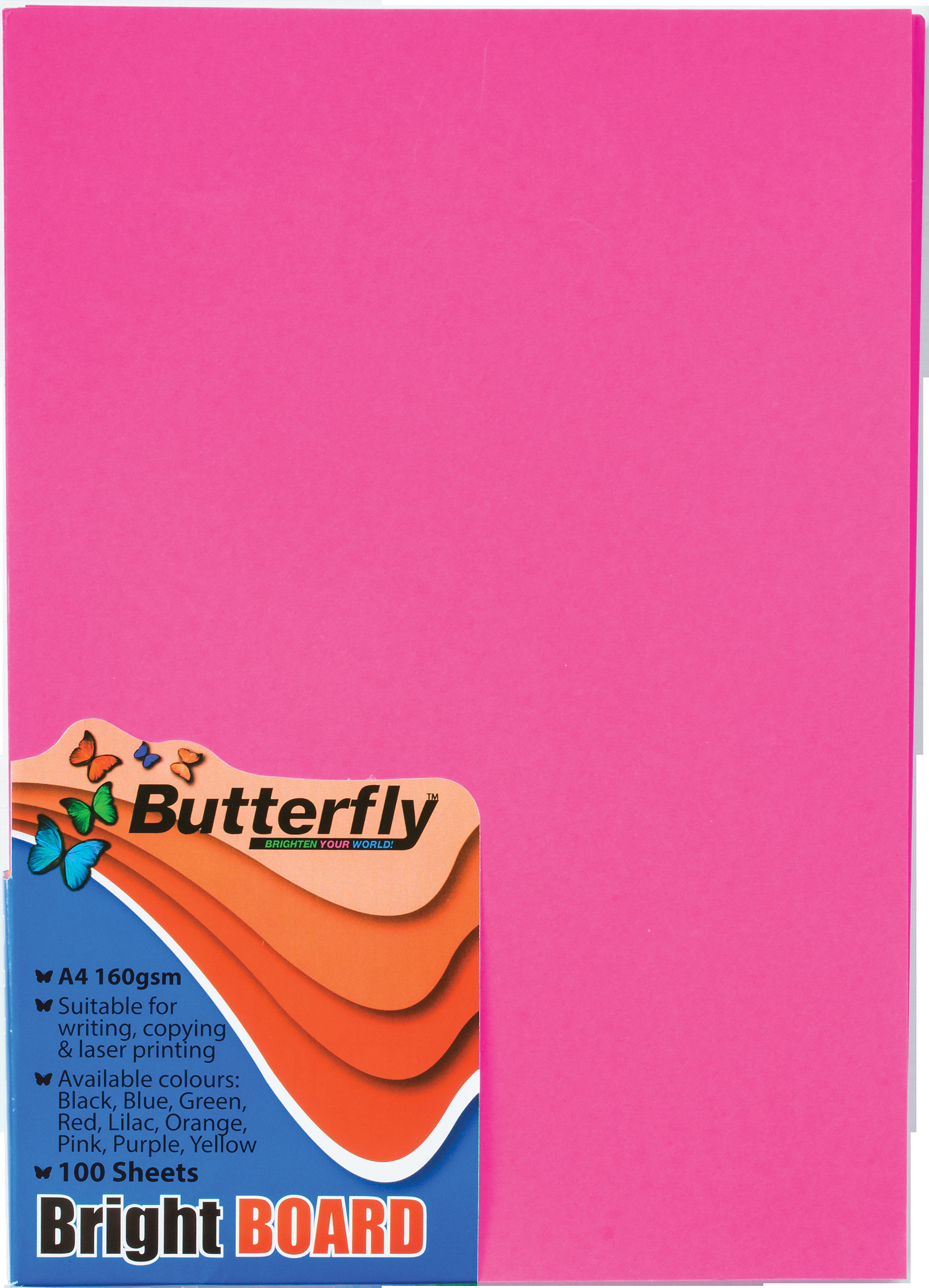 A4 Bright Board - Pack of 100 Pink