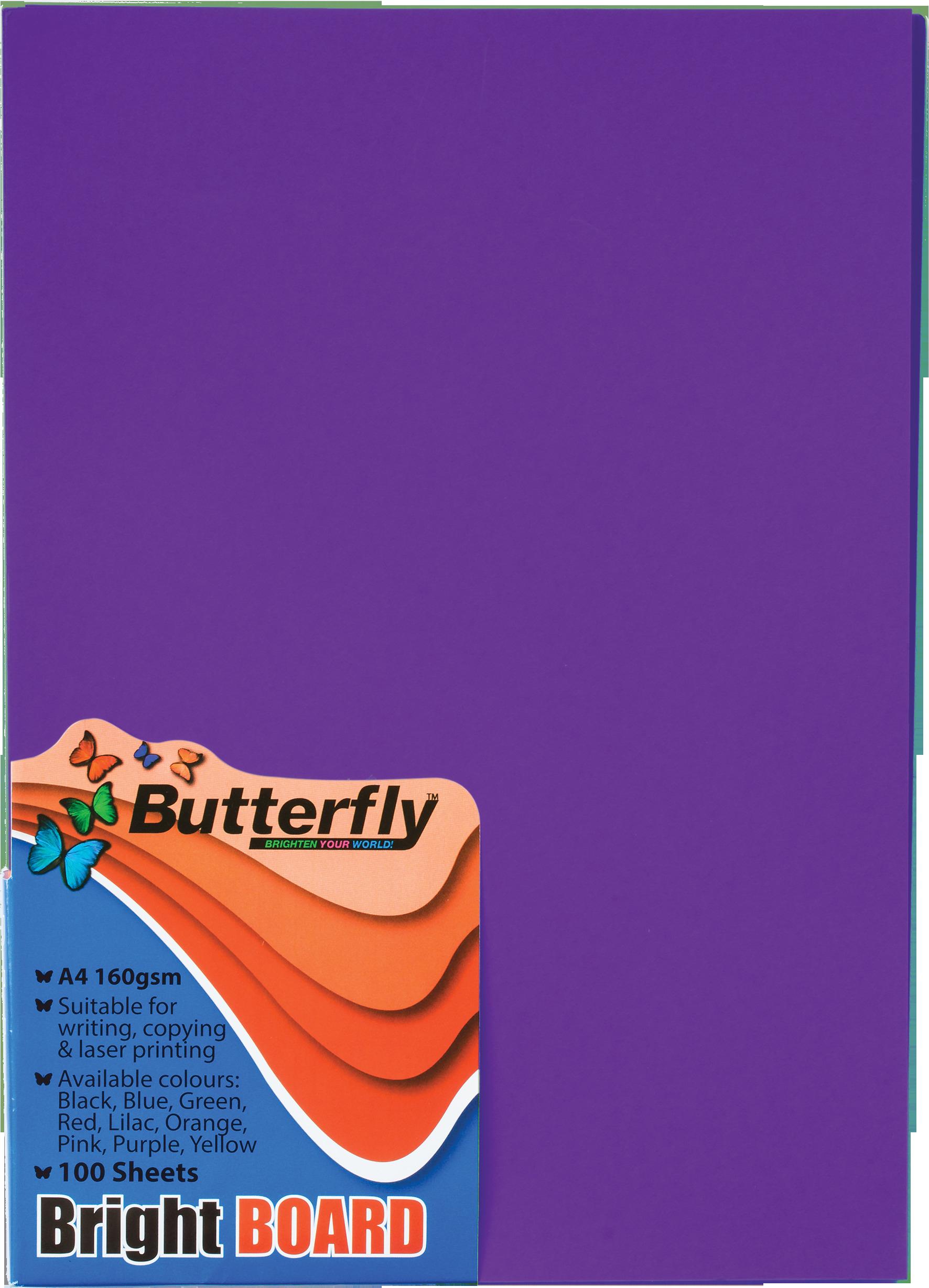 A4 Bright Board - Pack of 100 Purple