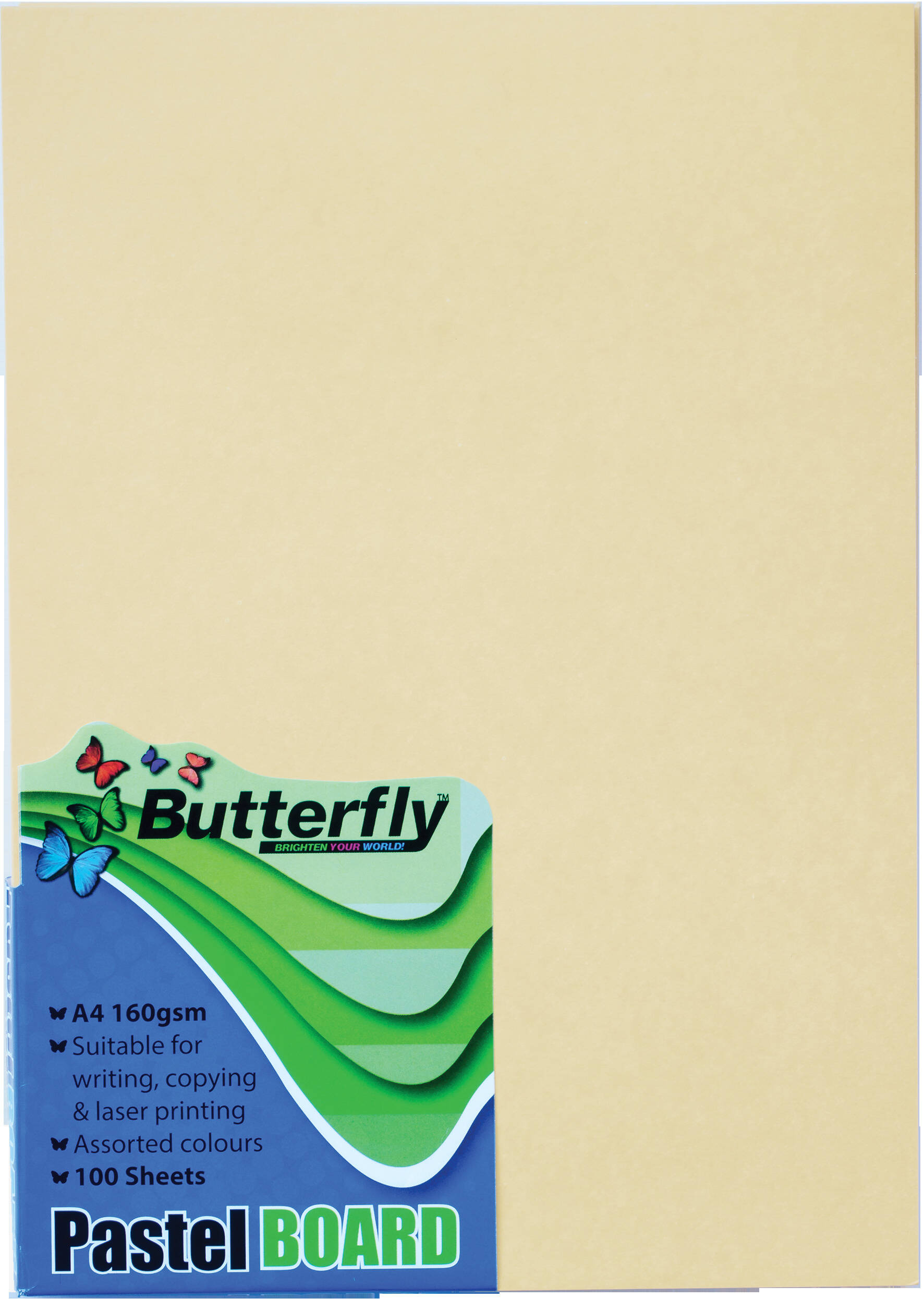A4 Pastel Board - Pack of 100 Buff