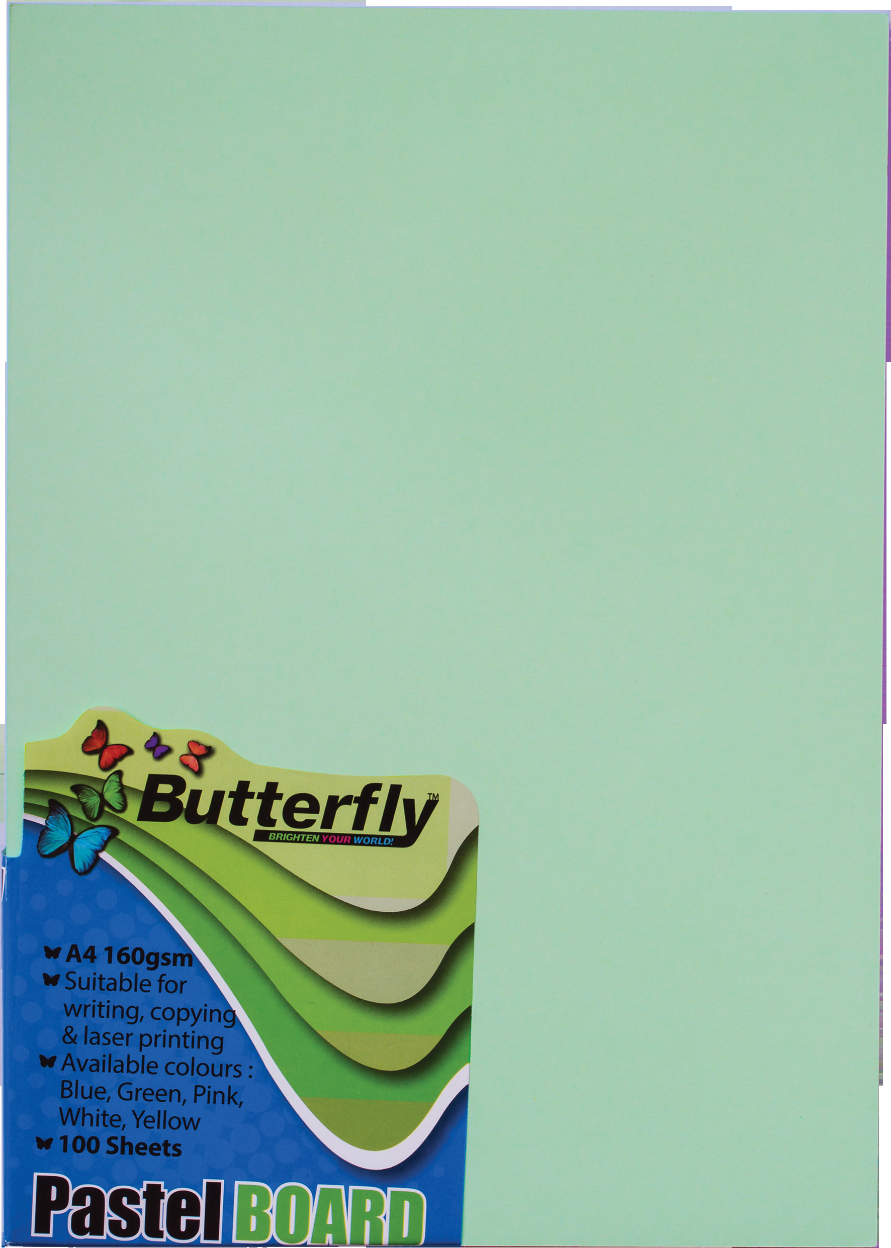 A4 Pastel Board - Pack of 100 Green