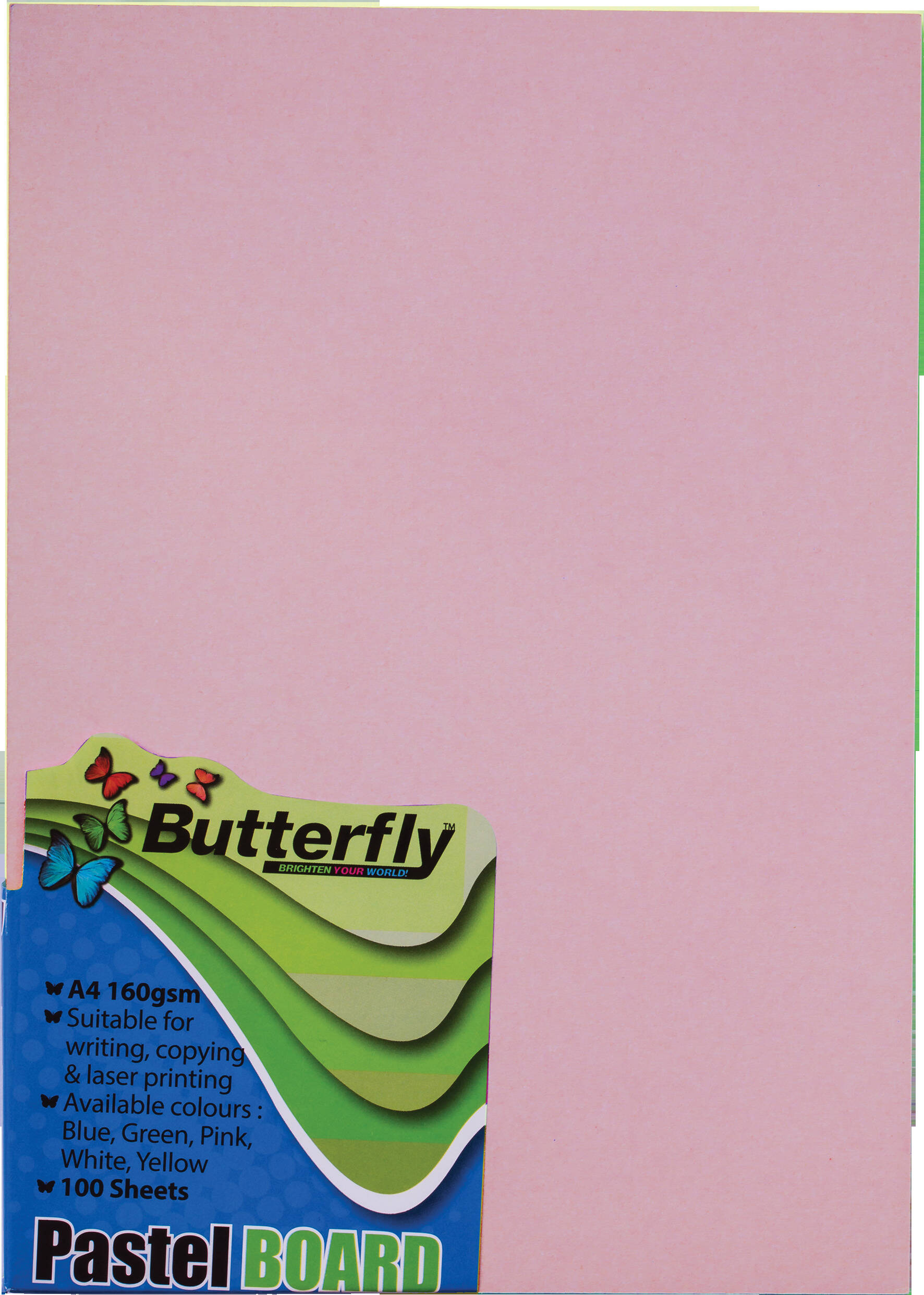 A4 Pastel Board - Pack of 100 Pink