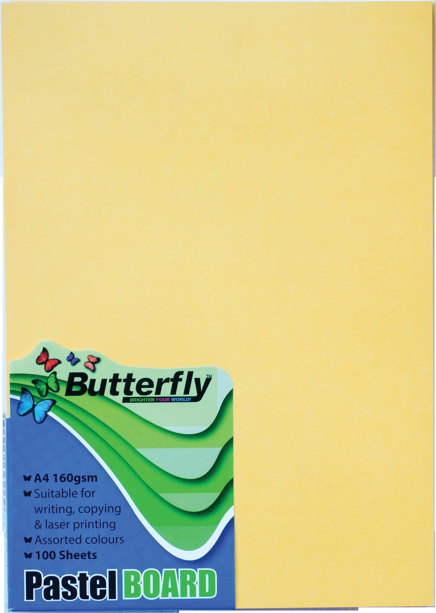 A4 Pastel Board - Pack of 100 Yellow