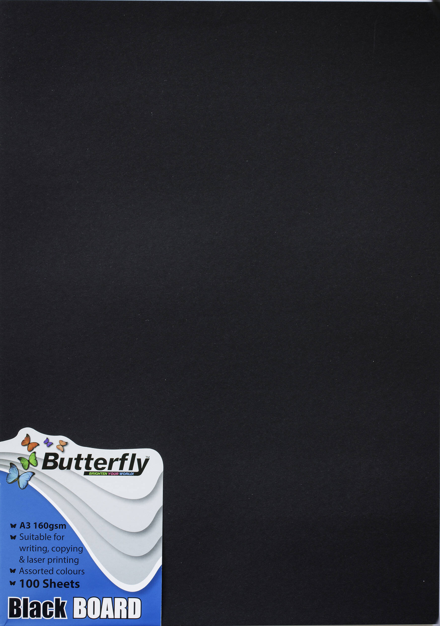 A3 Bright Board - Pack of 100 Black