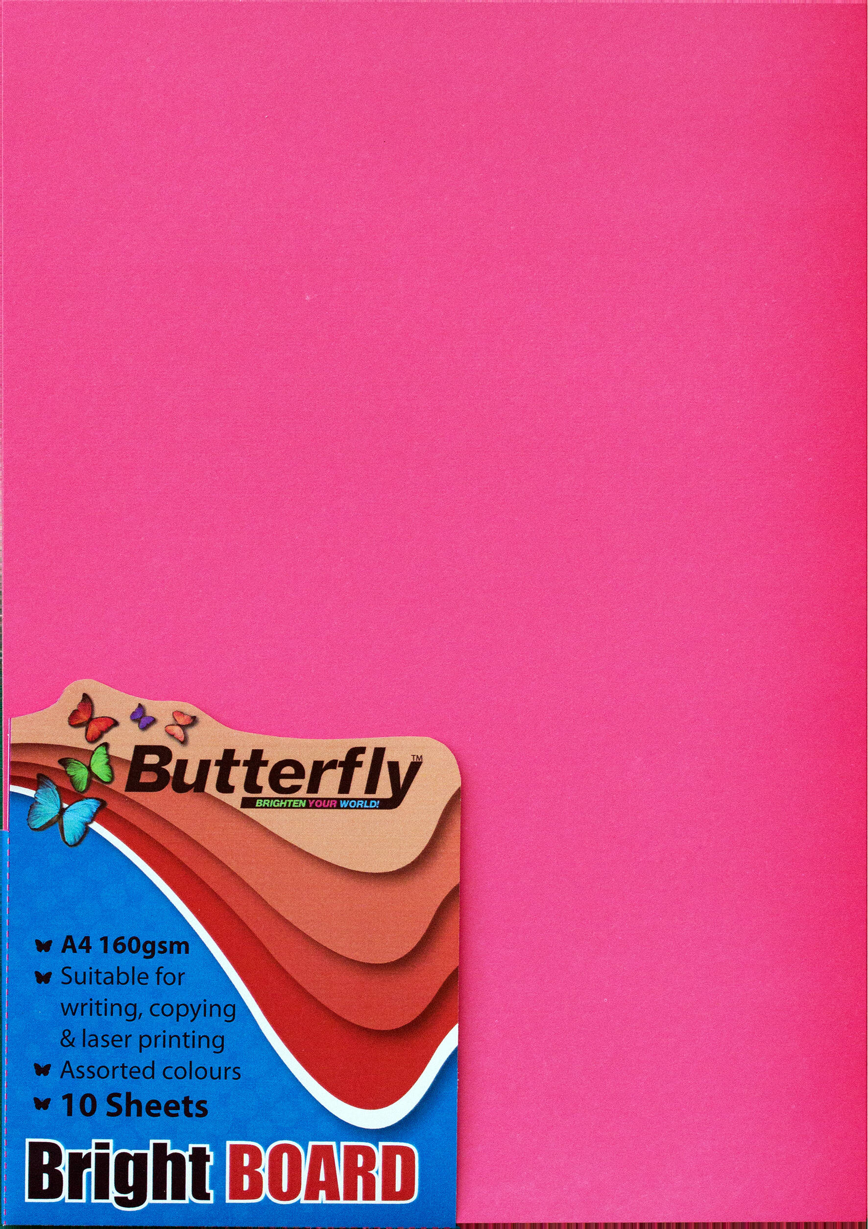 A4 Bright Board - Pack of 10 Pink