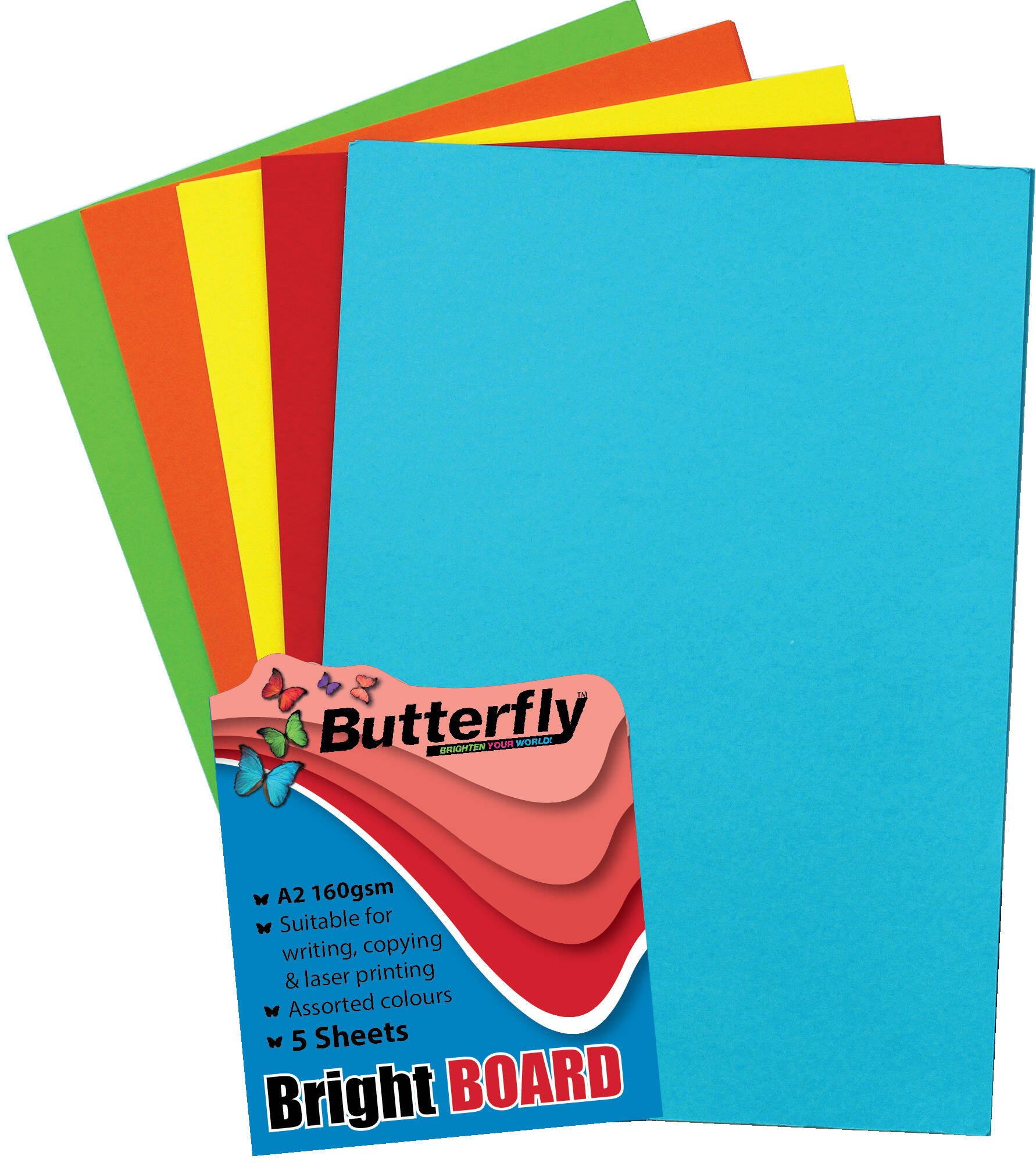 Mixed A2 Bright Bright Board - Pack of 5