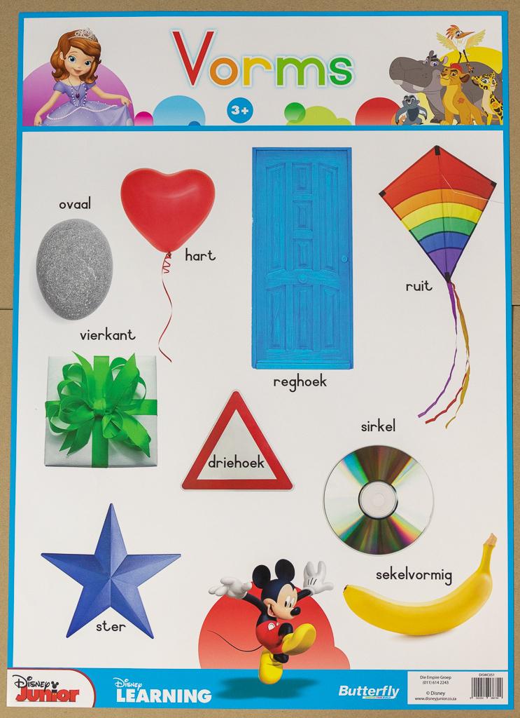 Disney Muurkaart - Vorms