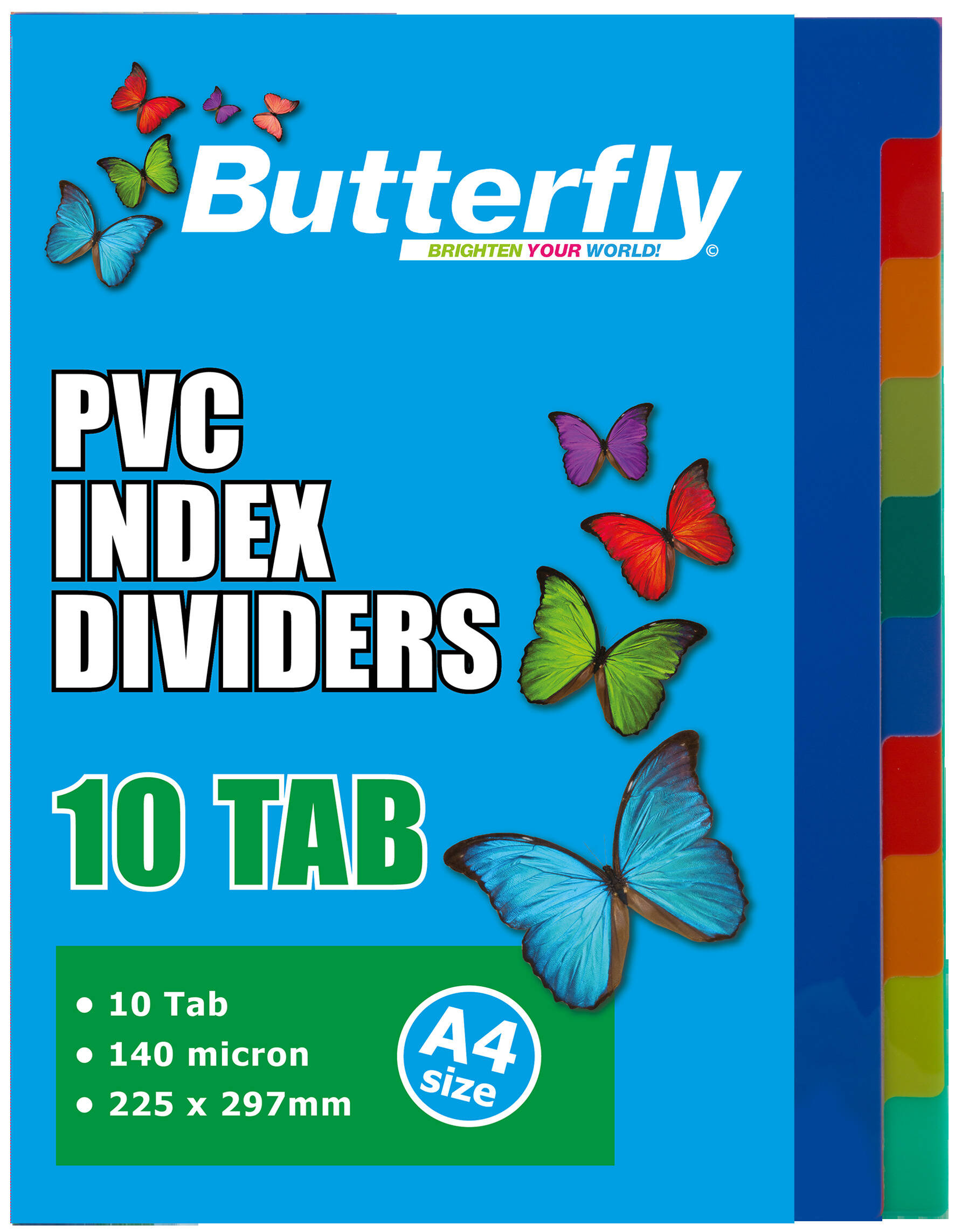 A4 File Dividers - 140 Micron - 10 Tab