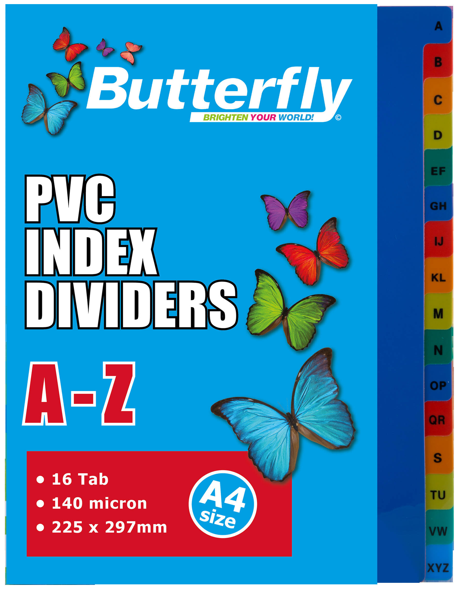 A4 File Dividers - 140 Micron - A-Z 16 Tab