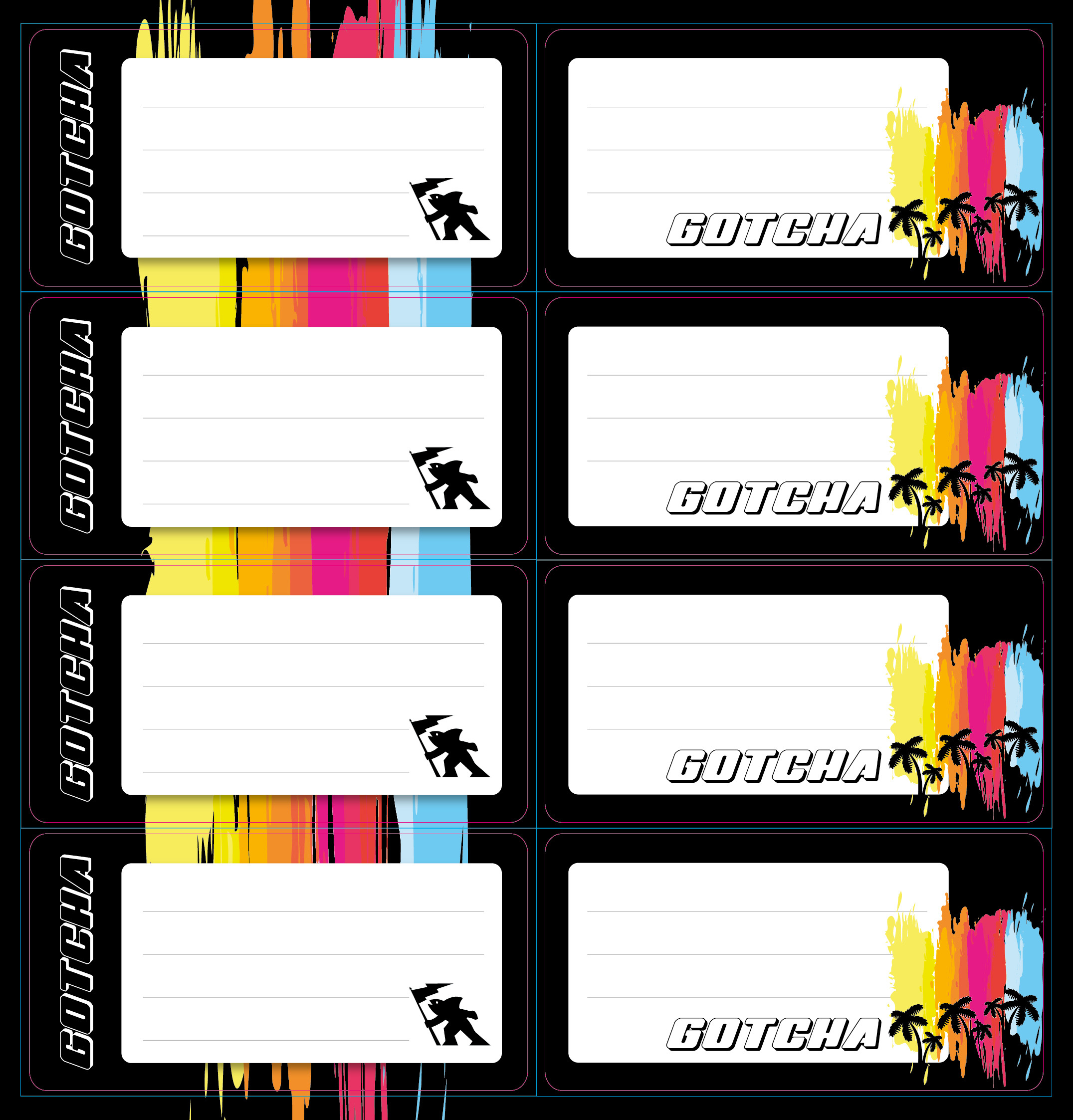 Gotcha Boys - Self Adhesive Labels 16