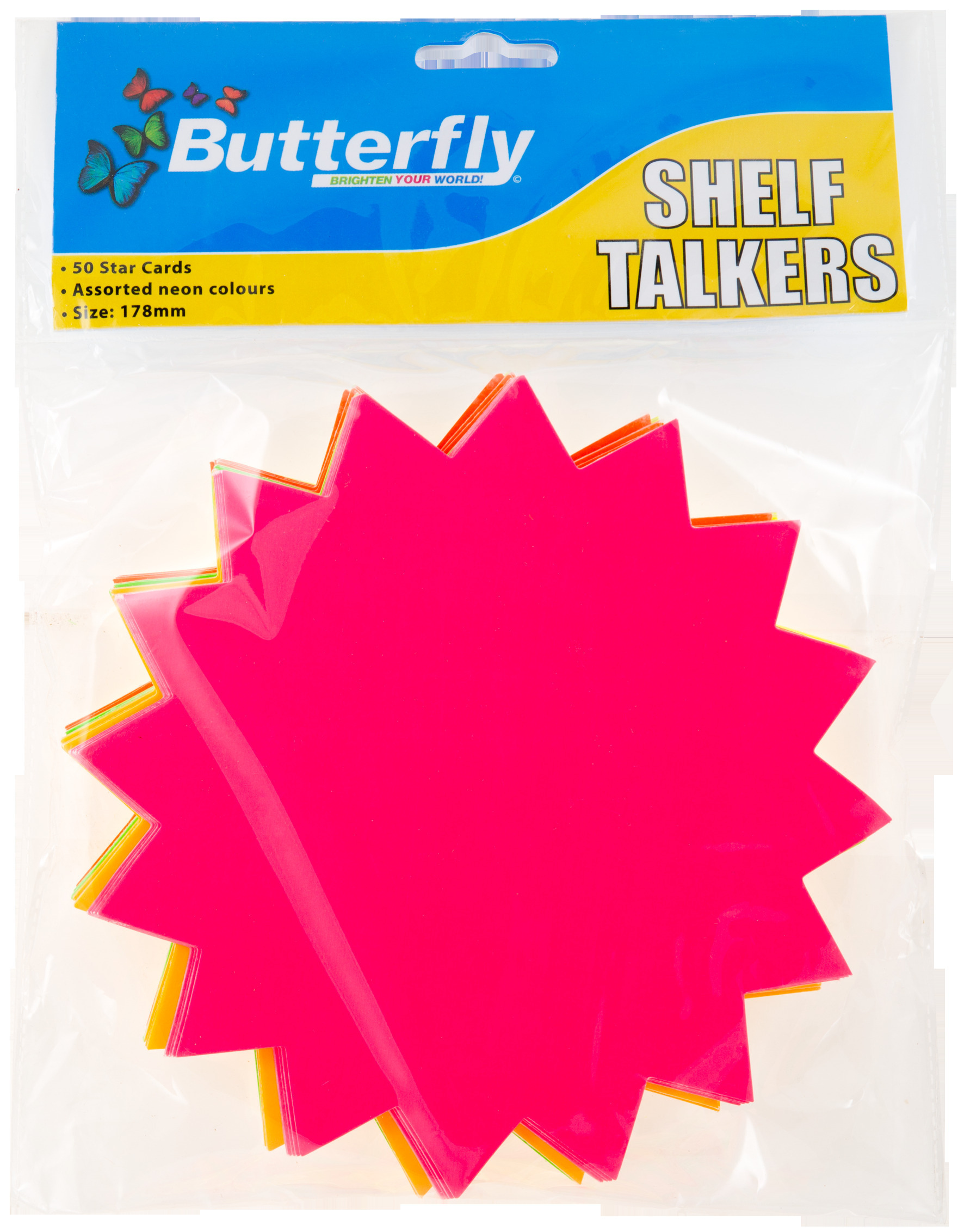 Shelf Talkers - Cut Out Card Stars 50 (178mm)