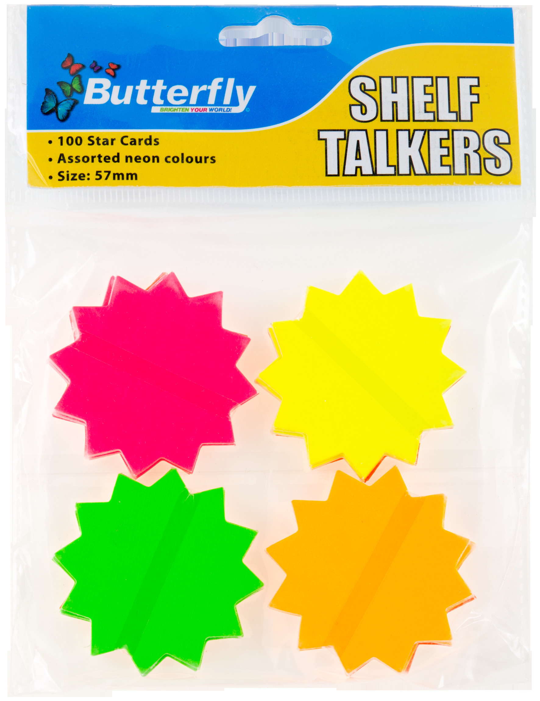 Shelf Talkers - Cut out Card Stars 100 (57mm)