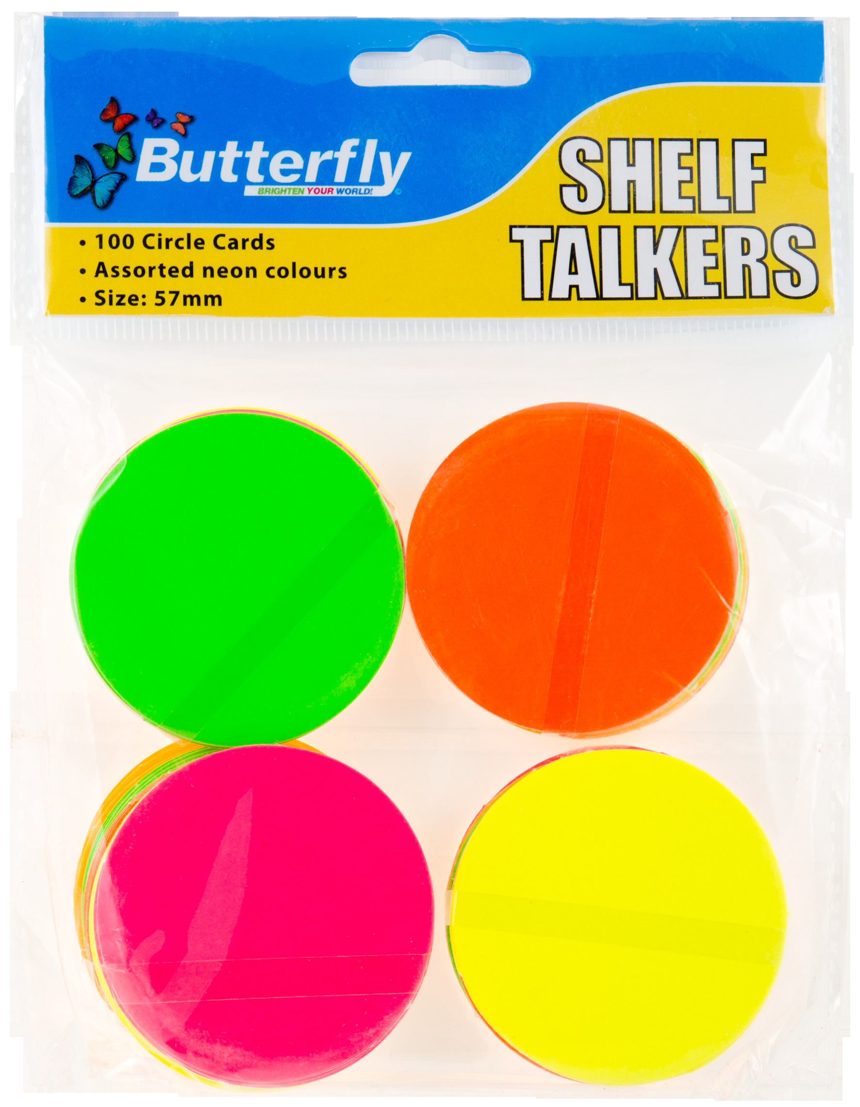 Shelf Talkers - Card Circles 100 (57mm)