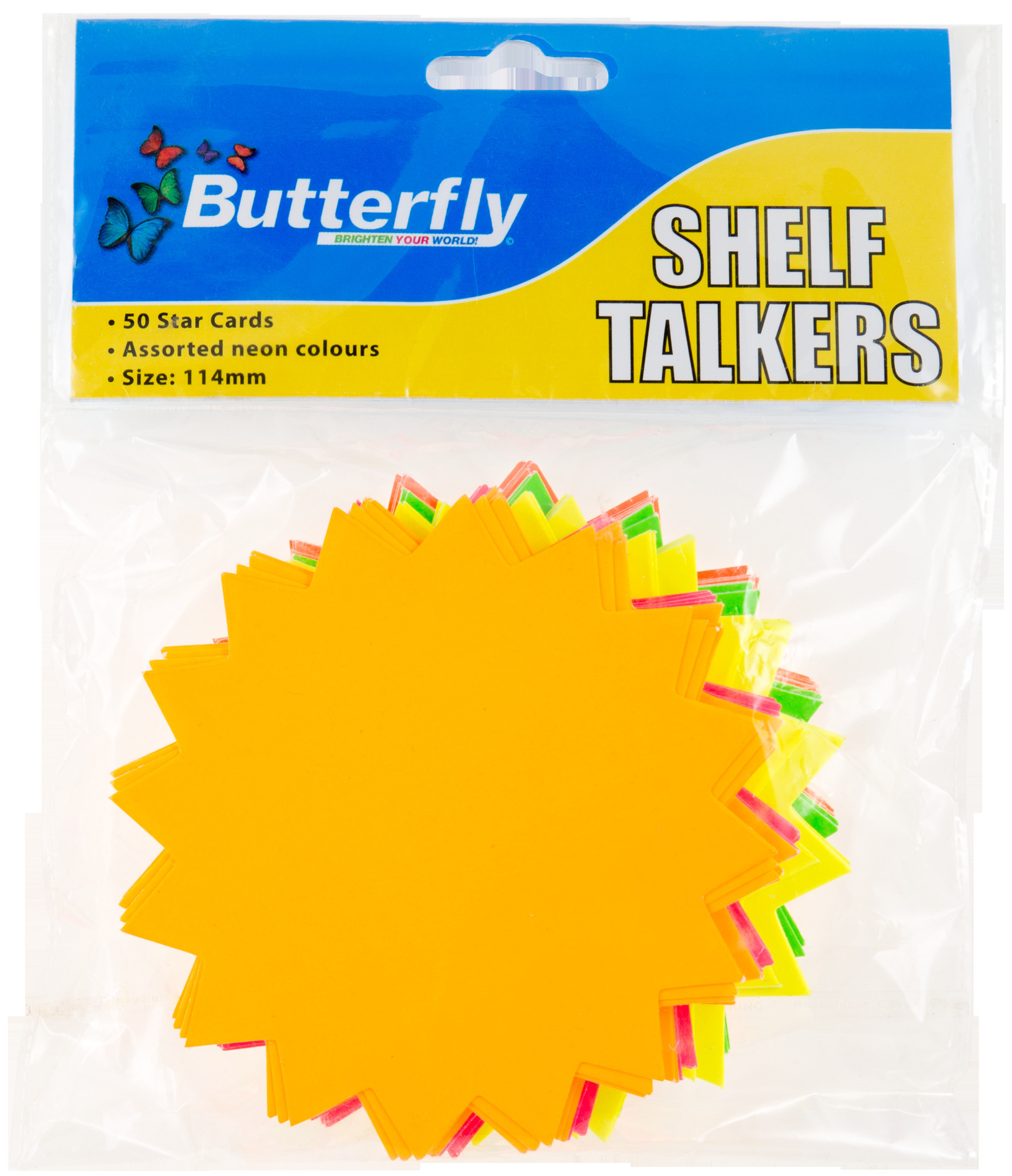 Shelf Talkers - Cut Out Card Stars 50 (114mm)