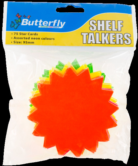 Shelf Talkers - Card Stars 75 (95mm)