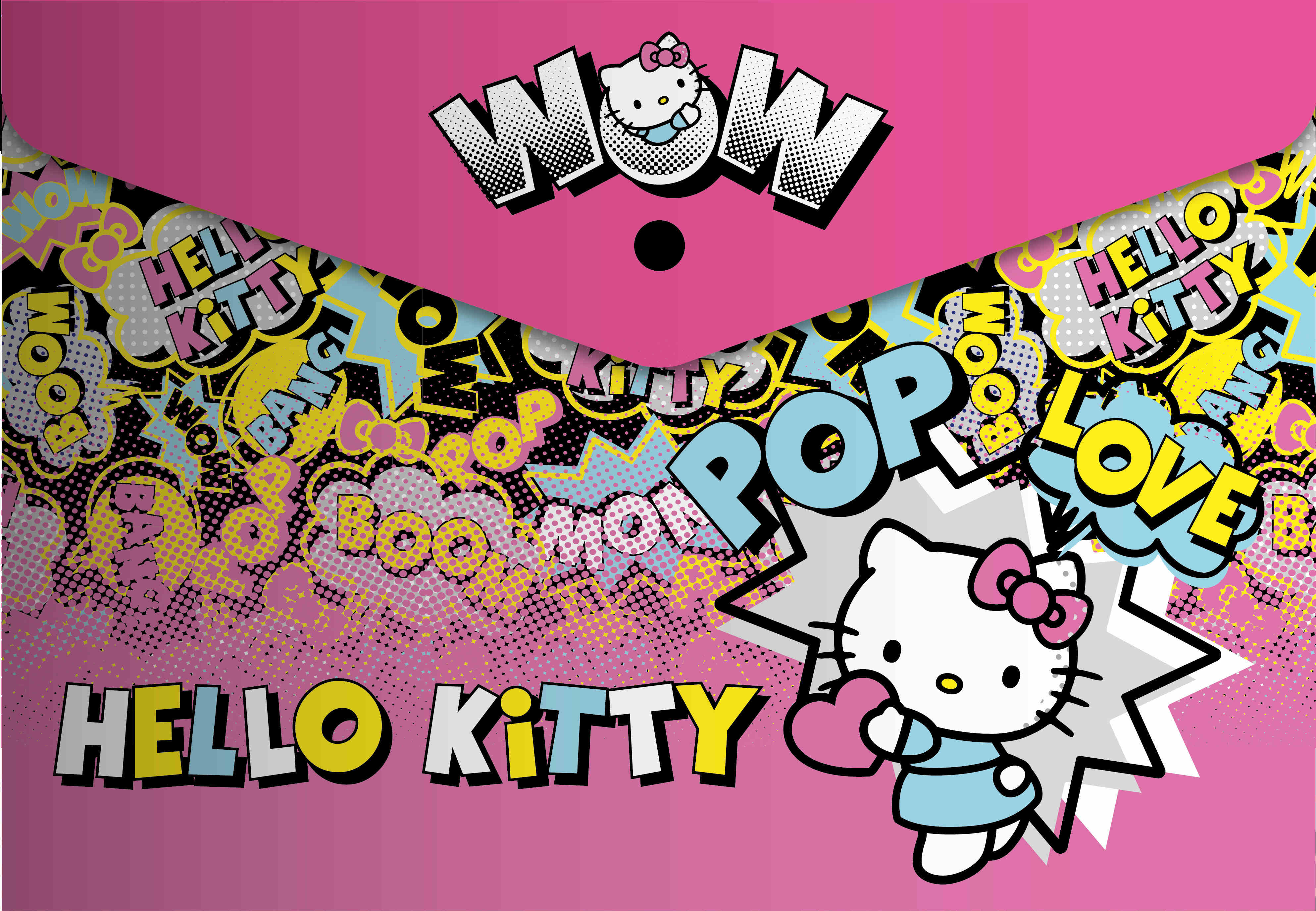 Hello Kitty - Carry Folder/Document Wallet