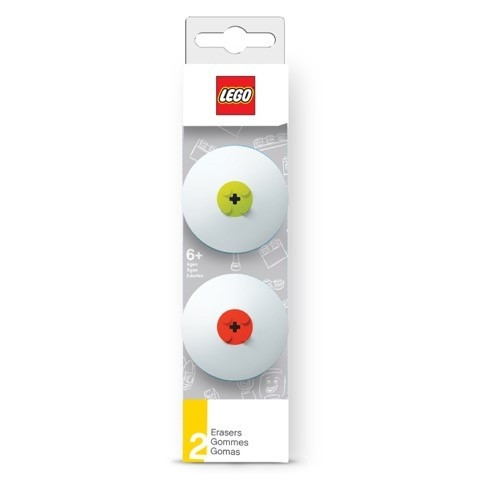 LEGO Erasers (Red & Lime)