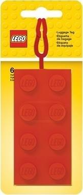 LEGO 2x4 Red Luggage Tag