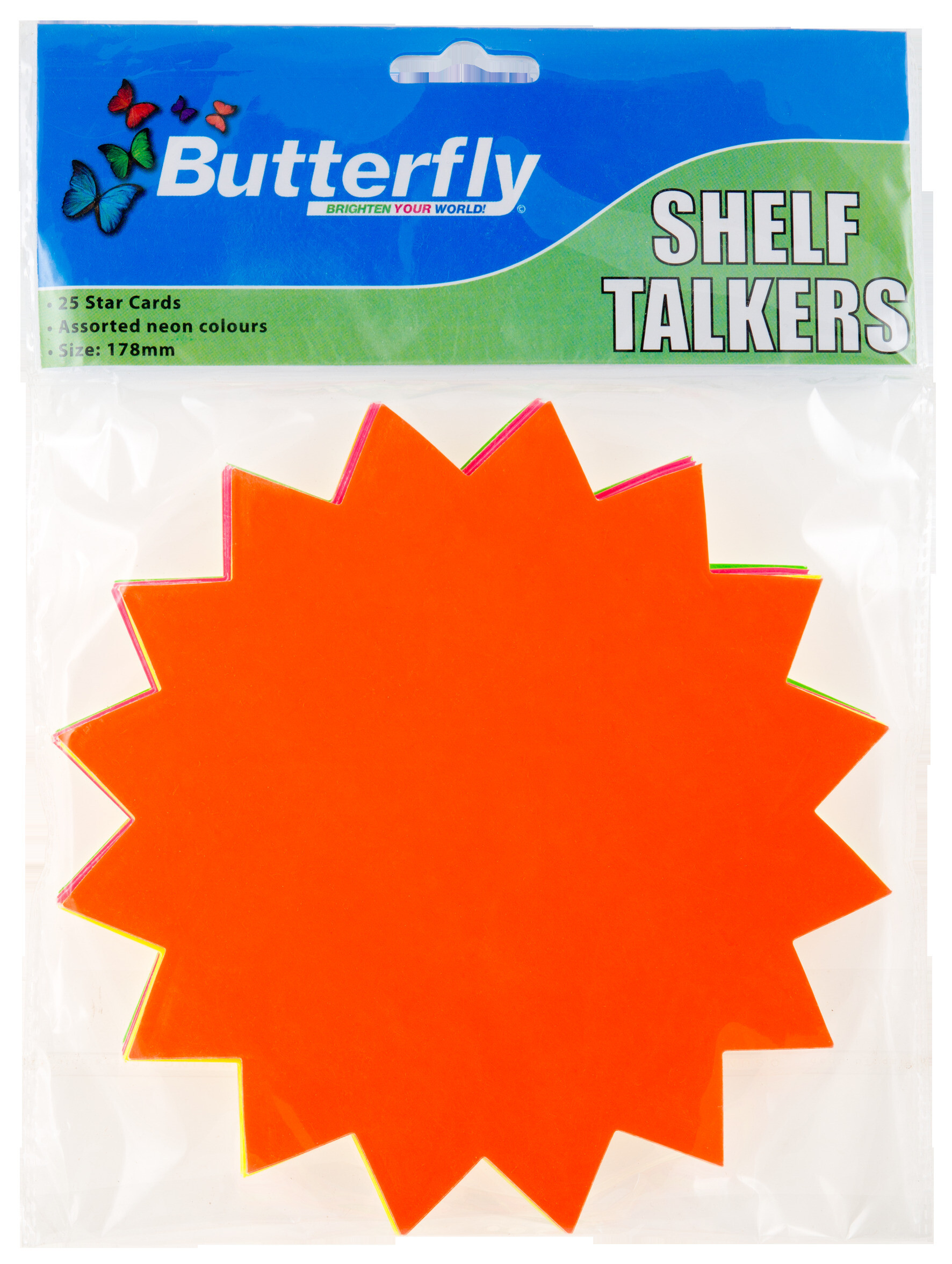 Shelf Talkers - Cut Out Stars 25 (178mm)
