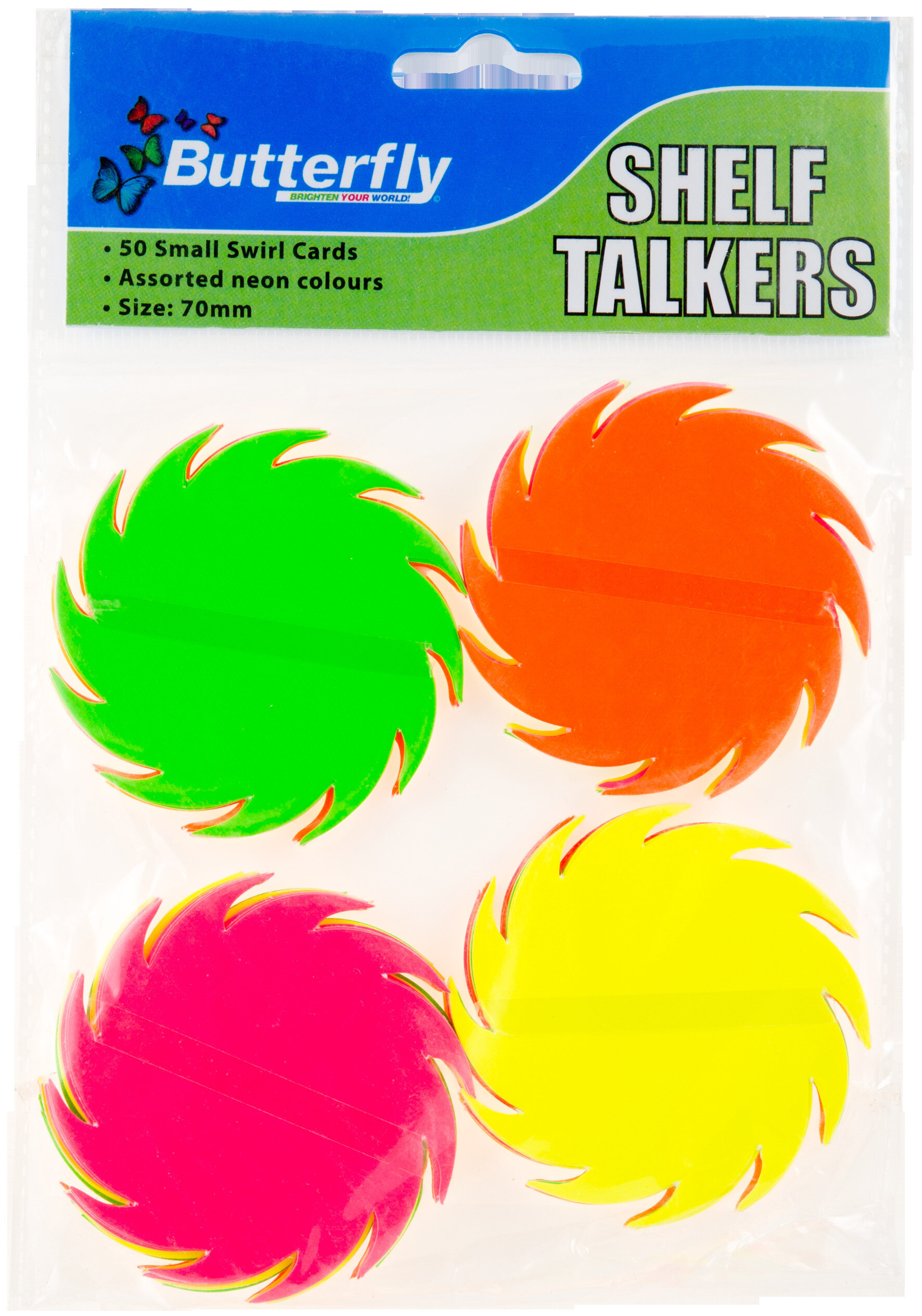 Shelf Talkers - Small Swirls 50 (70mm)