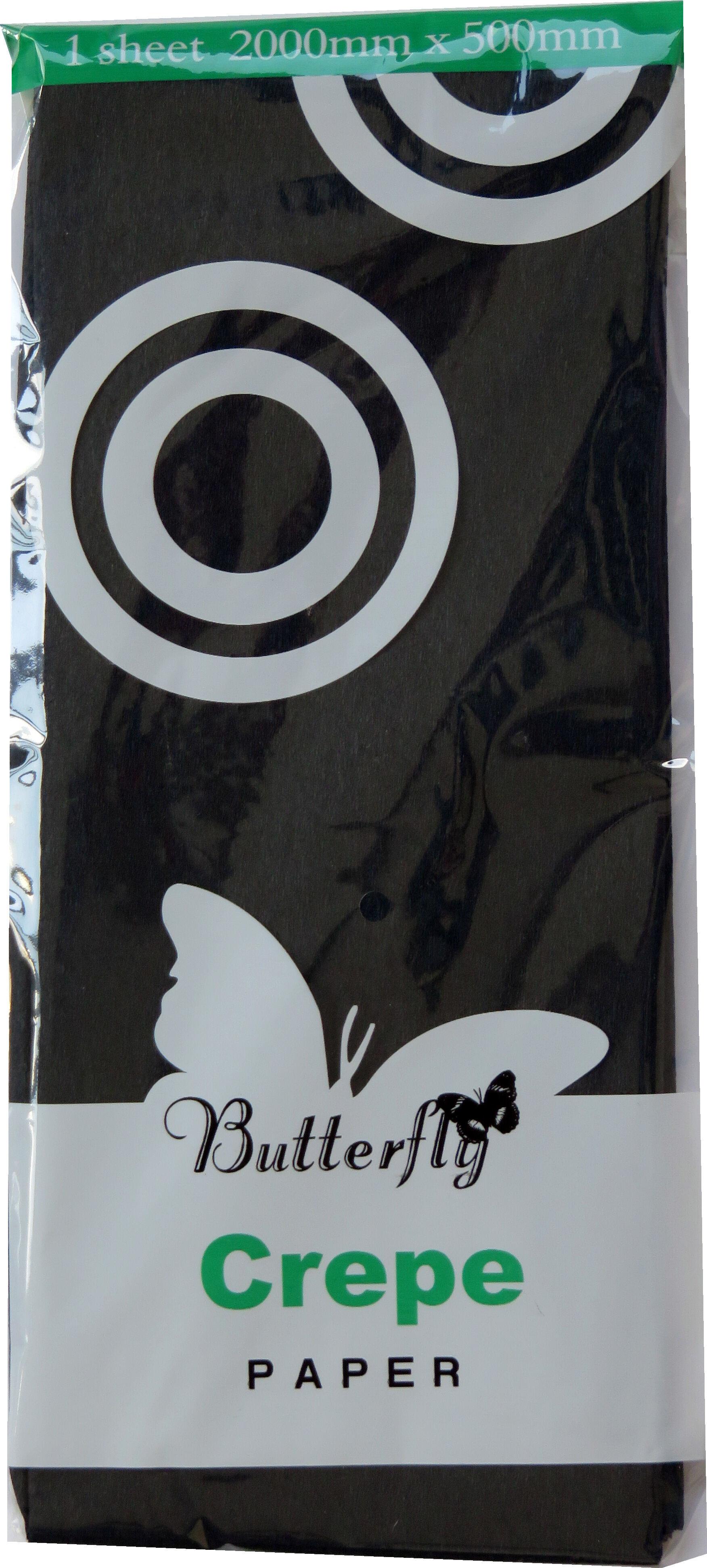 Crepe Paper - 1 Sheet (2m x 500mm) Black
