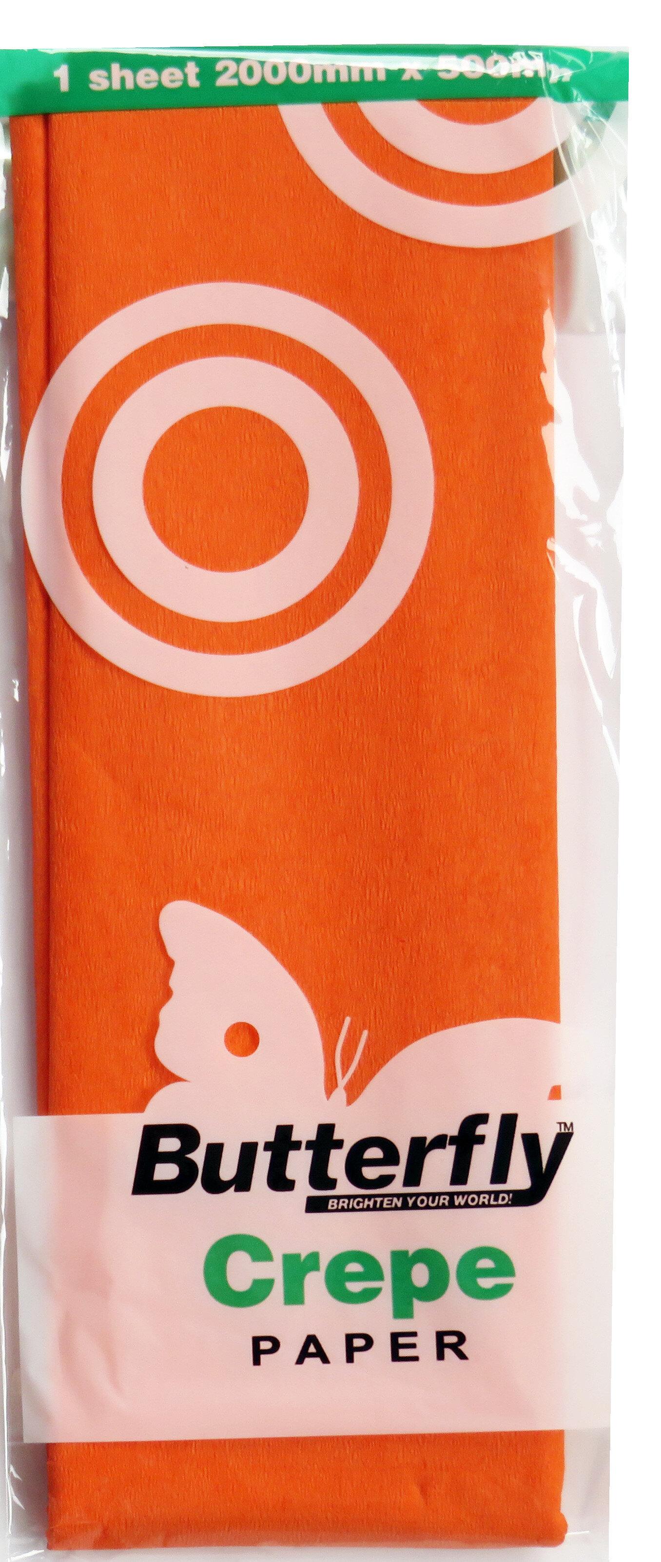 Crepe Paper - 1 Sheet (2m x 500mm) Orange