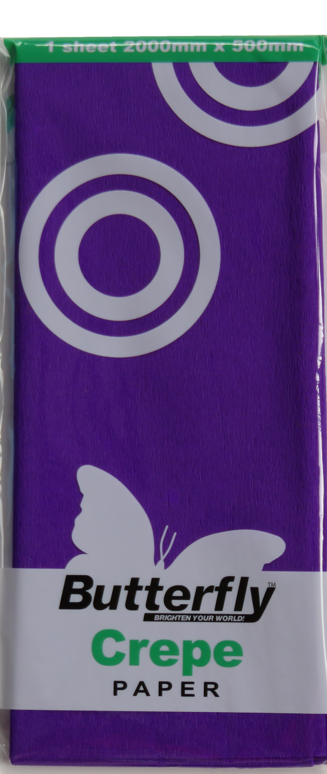 Crepe paper - 1 Sheet (2m x 500mm) Purple